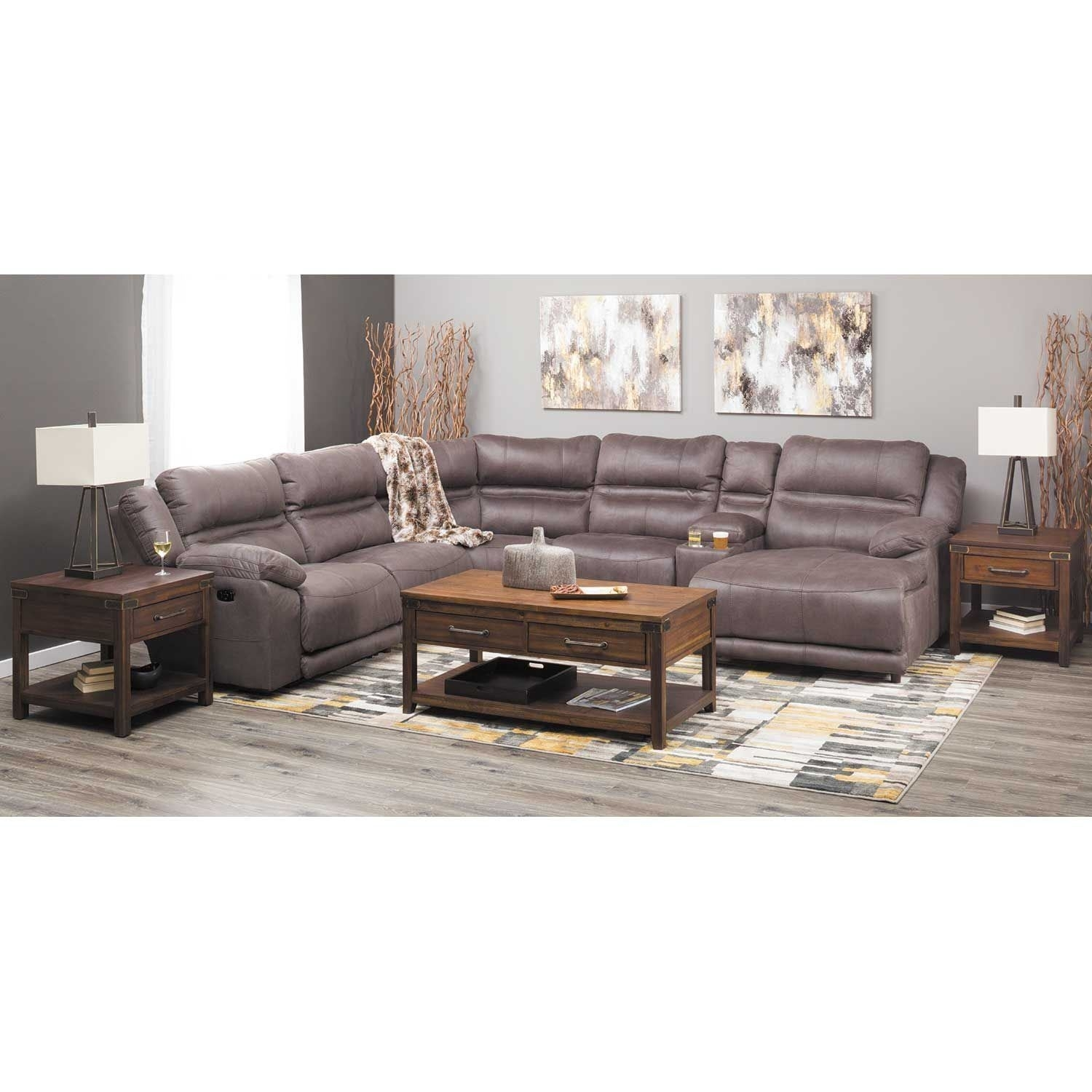Braxton 6 Piece Power Reclining Sectional With Adjustable Headrest inside Jackson 6 Piece Power Reclining Sectionals (Image 4 of 30)