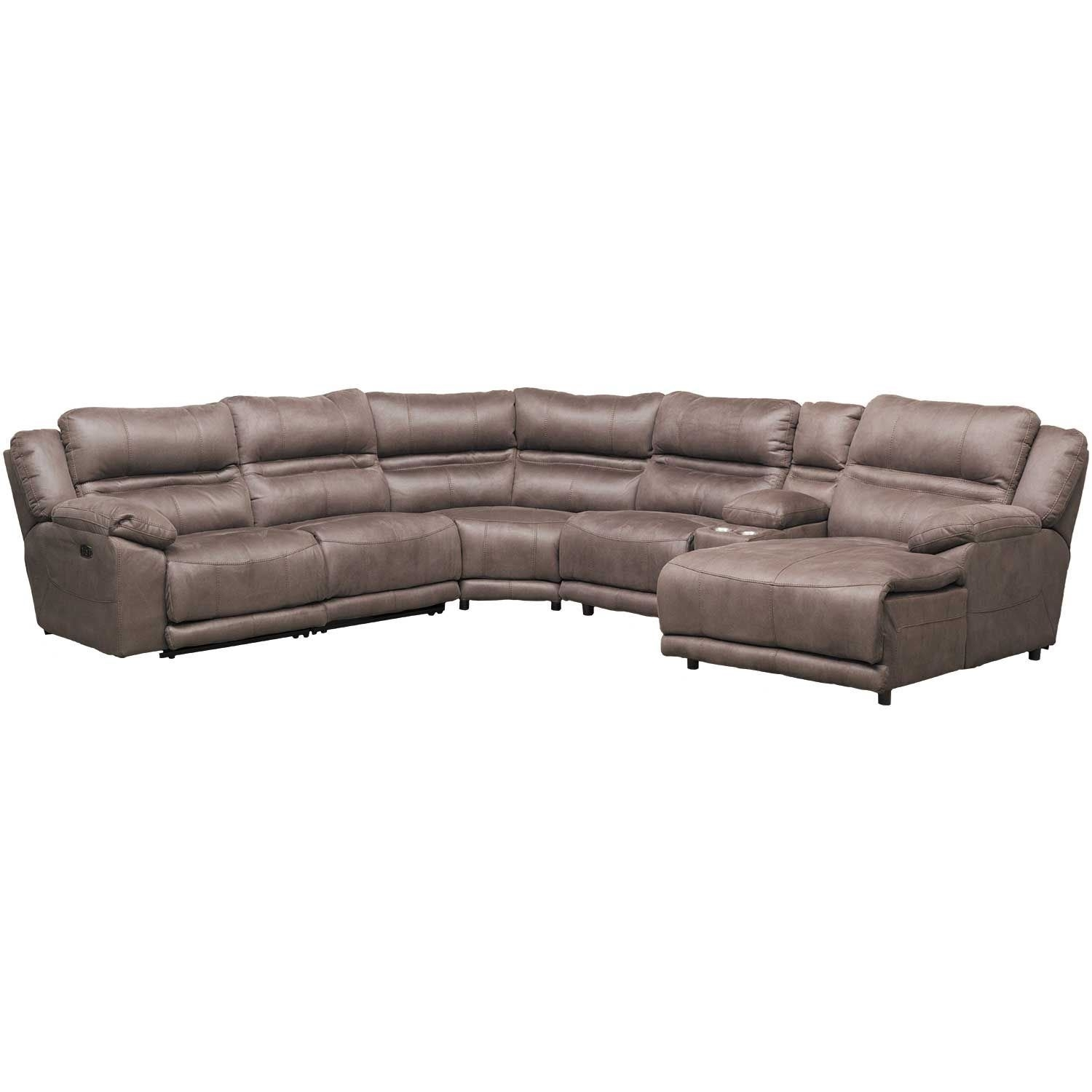 Braxton 6 Piece Power Reclining Sectional With Adjustable Headrest intended for Jackson 6 Piece Power Reclining Sectionals (Image 5 of 30)