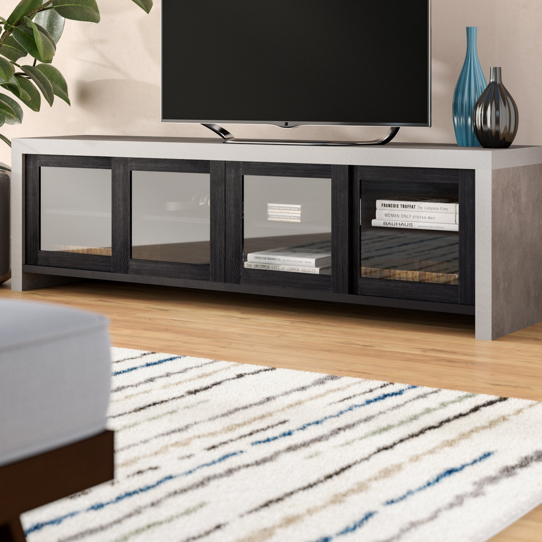 "Brayden Studio Behan Transitional 70.86"" Tv Stand | Wayfair pertaining to Mid Burnt Oak 71 Inch Sideboards (Image 3 of 30)"