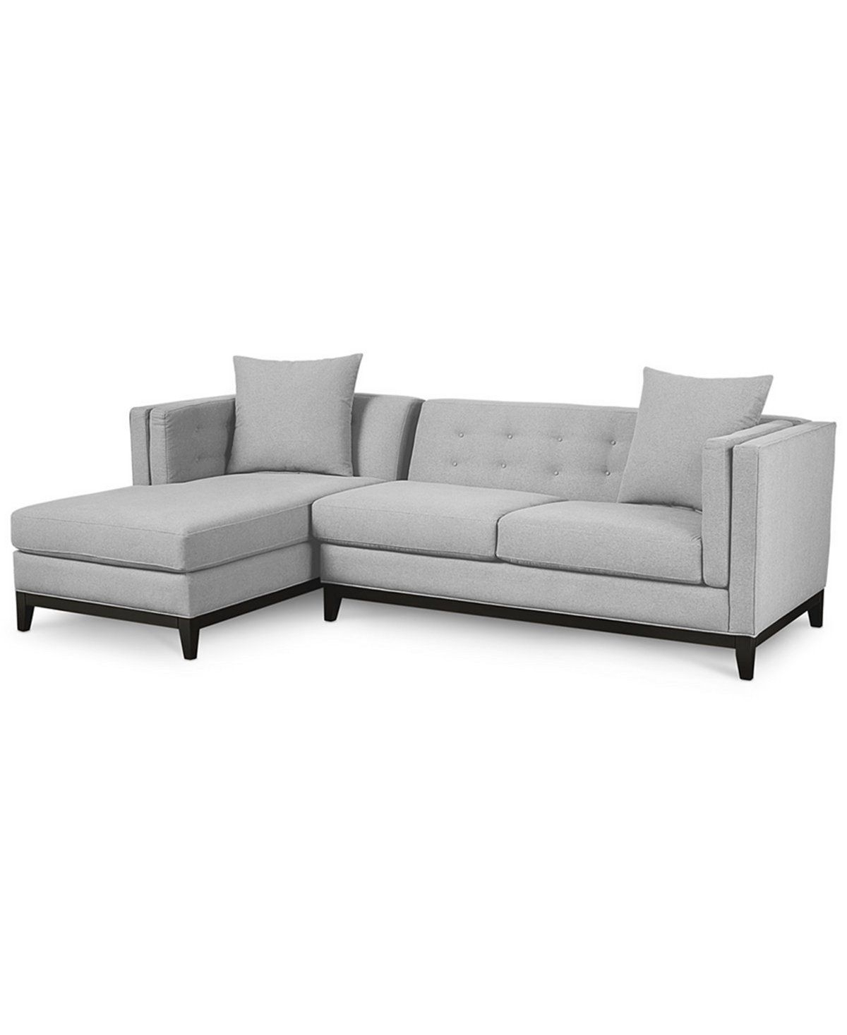 Braylei 2-Pc. Sectional With Chaise & 2 Toss Pillows, Only At Macy's with regard to Turdur 2 Piece Sectionals With Raf Loveseat (Image 5 of 30)
