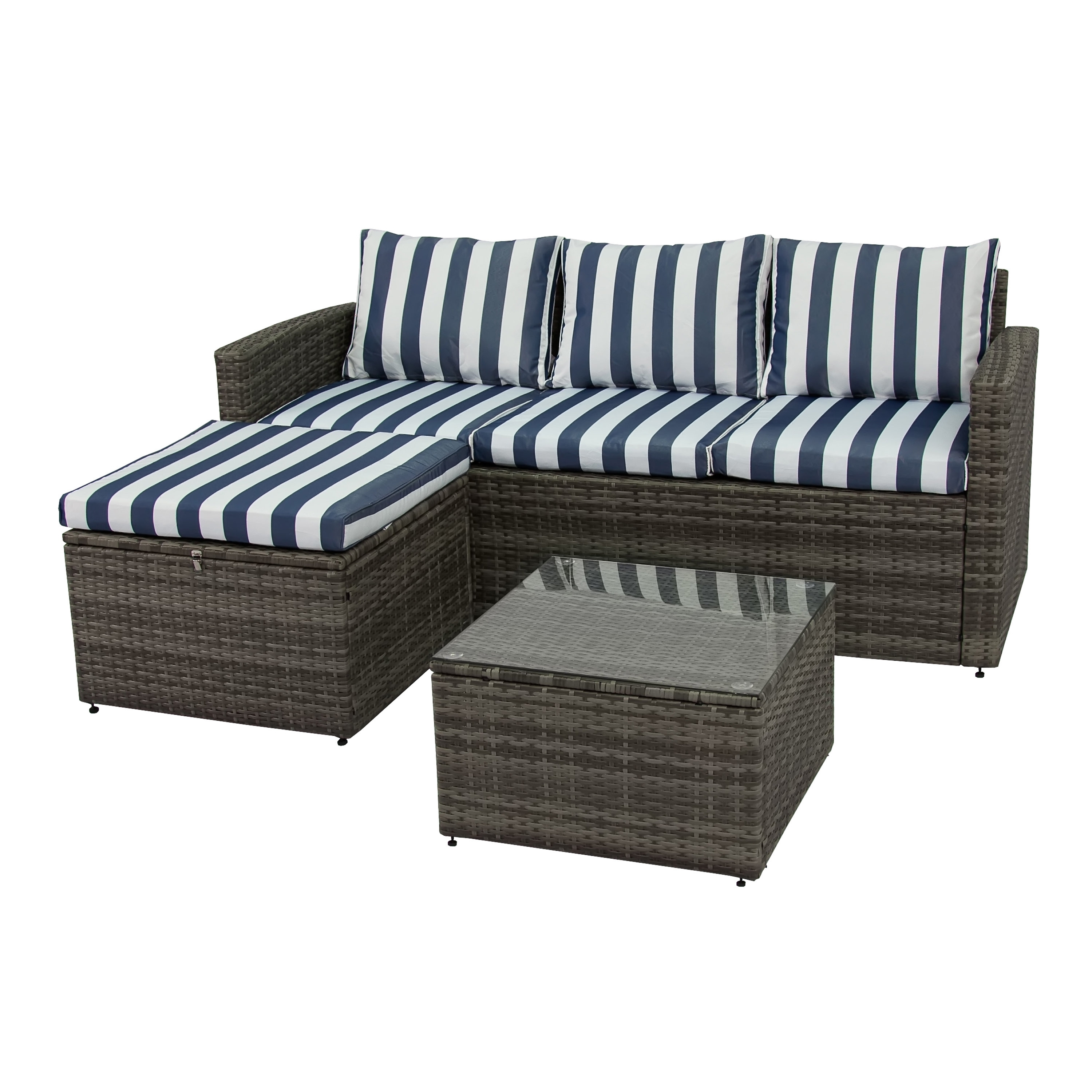Breakwater Bay Ridgemoor 3 Piece Sofa Set With Cushions & Reviews inside Karen 3 Piece Sectionals (Image 6 of 30)