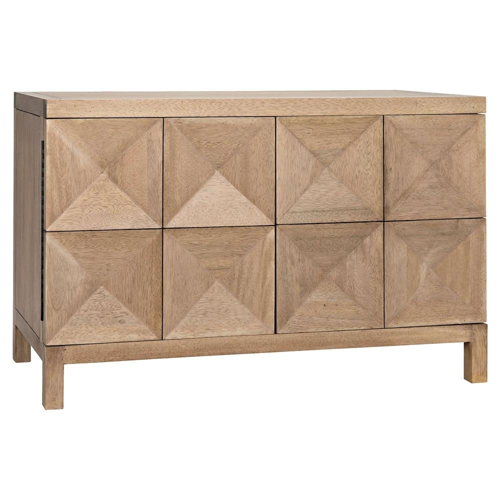 Brenton Modern Classic Washed Walnut Diamond 2 Door Sideboard regarding Jaxon Sideboards (Image 2 of 30)