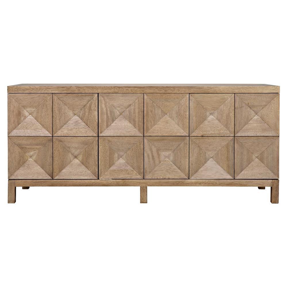 Brenton Modern Classic Washed Walnut Diamond 3 Door Sideboard With Regard To Jaxon Sideboards (View 12 of 30)
