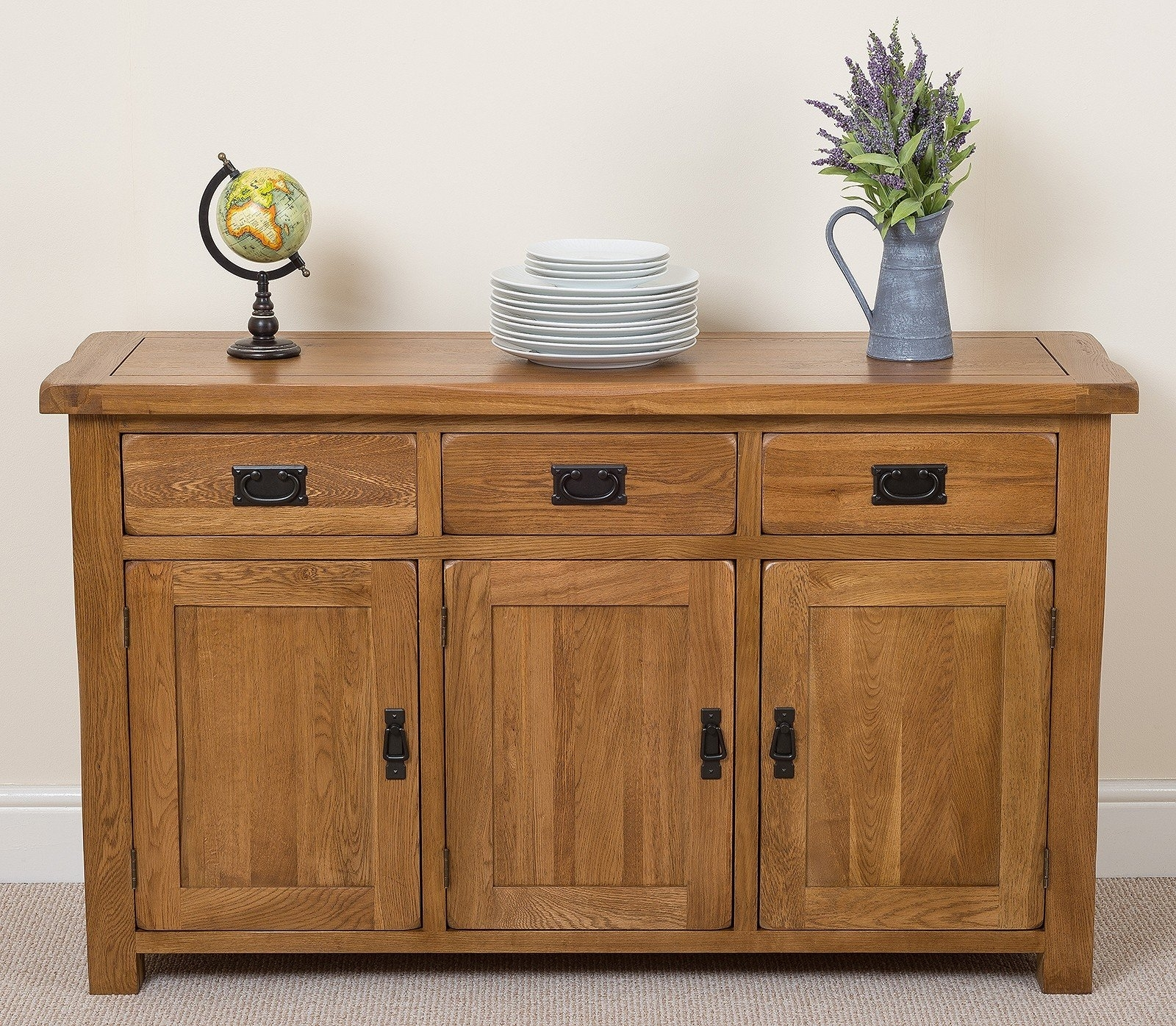 Brick & Barrow Hinson 3 Door 3 Drawer Sideboard | Wayfair.co.uk throughout 3-Door 3-Drawer Metal Inserts Sideboards (Image 4 of 30)