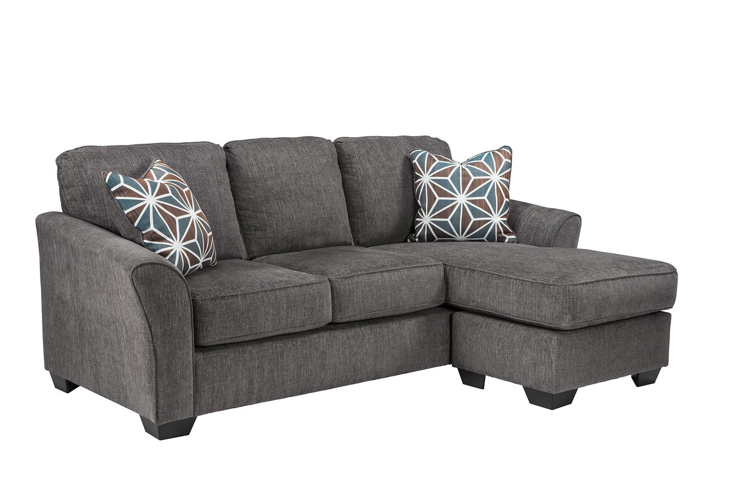 Brise Slate Sofa Chaise - Living Room Furniture - Living within Lucy Grey 2 Piece Sleeper Sectionals With Laf Chaise (Image 9 of 30)