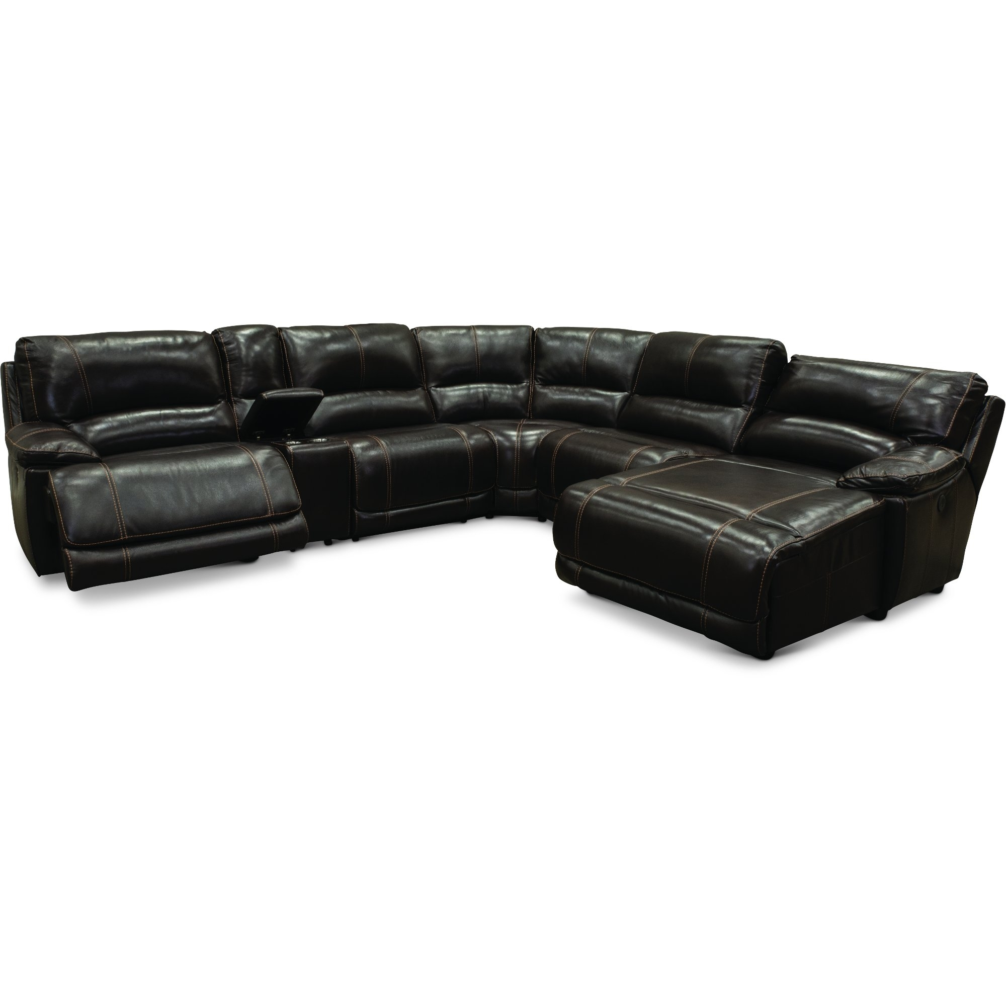 Brown 6 Piece Power Reclining Sectional Sofa - Brant | Rc Willey within Denali Charcoal Grey 6 Piece Reclining Sectionals With 2 Power Headrests (Image 5 of 30)