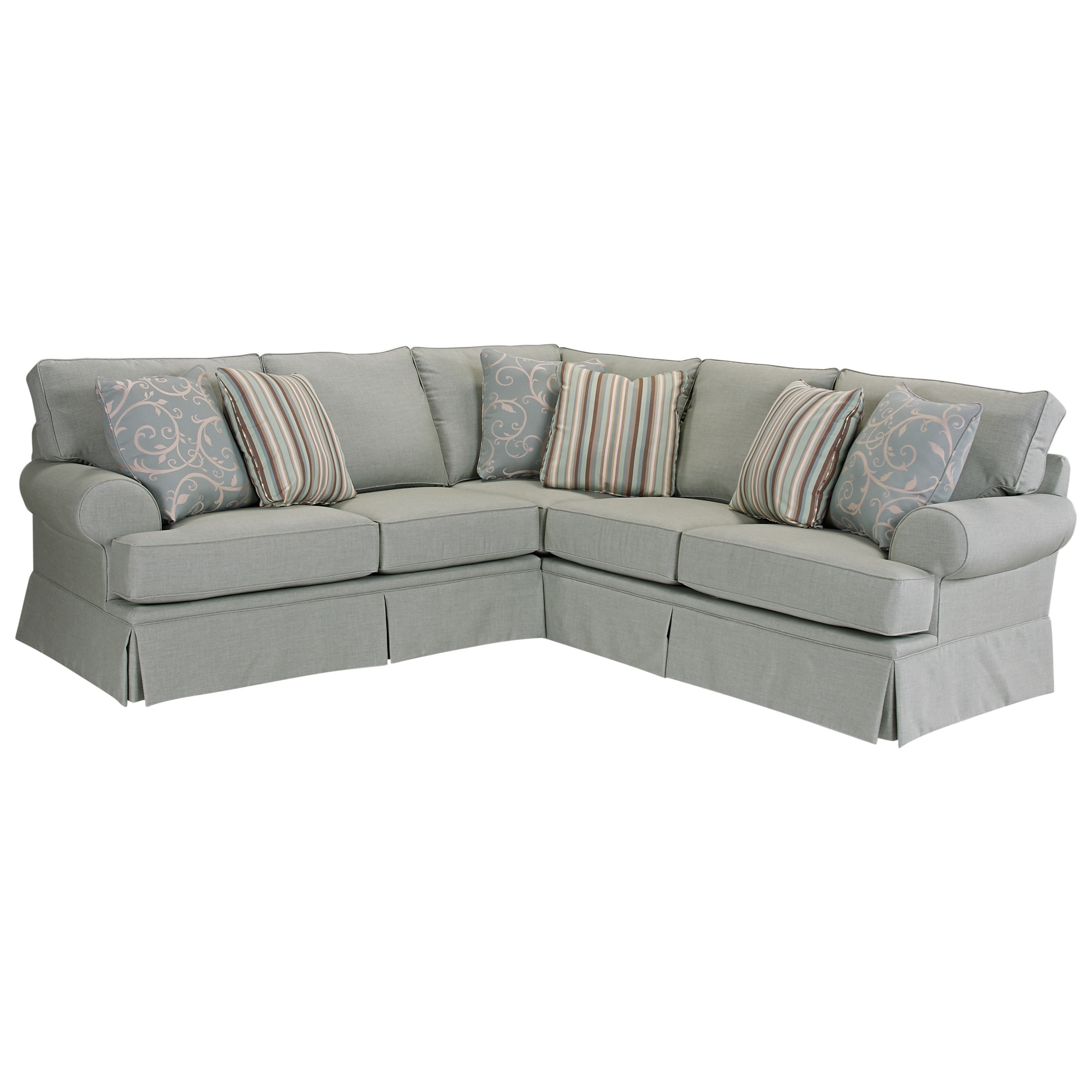 Broyhill Furniture Emily Transitional 2 Pc. Sectional With Rolled in Tess 2 Piece Power Reclining Sectionals With Laf Chaise (Image 4 of 30)