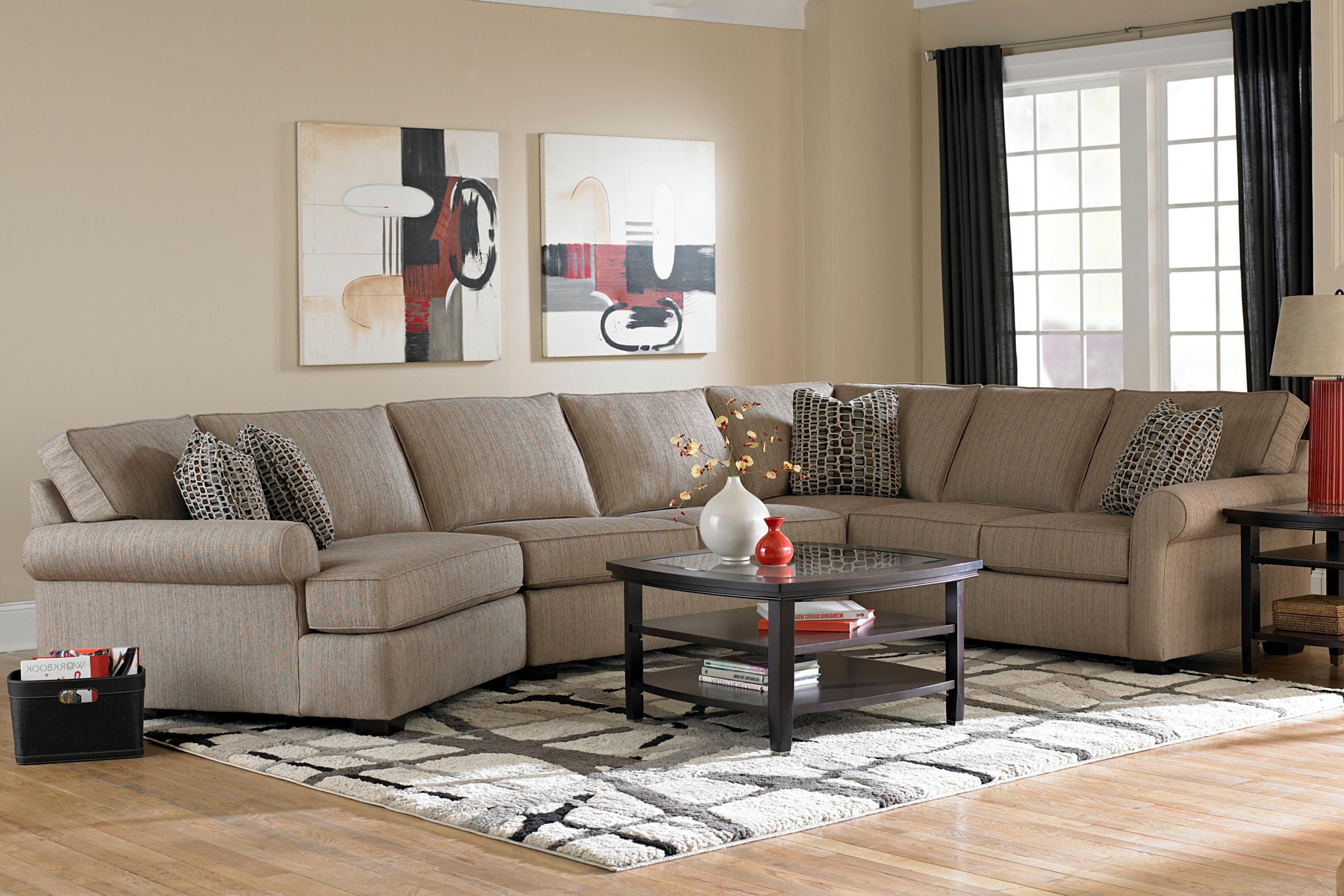 Broyhill Furniture Ethan Transitional Sectional Sofa With Left throughout Aurora 2 Piece Sectionals (Image 13 of 30)
