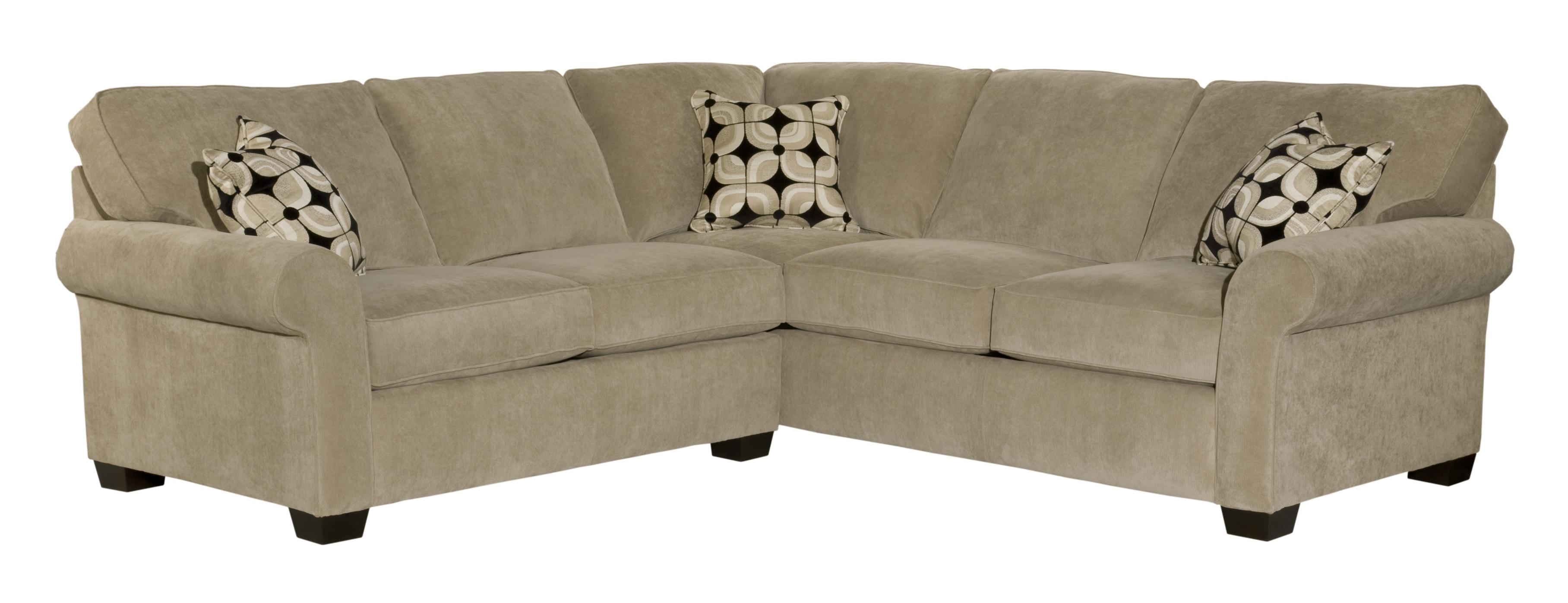 Broyhill Furniture Ethan Two Piece Sectional With Corner Sofa - Ahfa inside Benton 4 Piece Sectionals (Image 9 of 30)