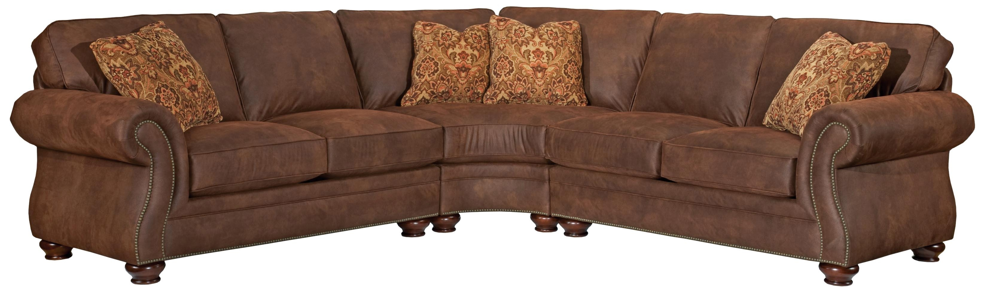 Broyhill Furniture Laramie 3 Piece Wedge Sectional Sofa - Ahfa throughout Blaine 3 Piece Sectionals (Image 10 of 30)