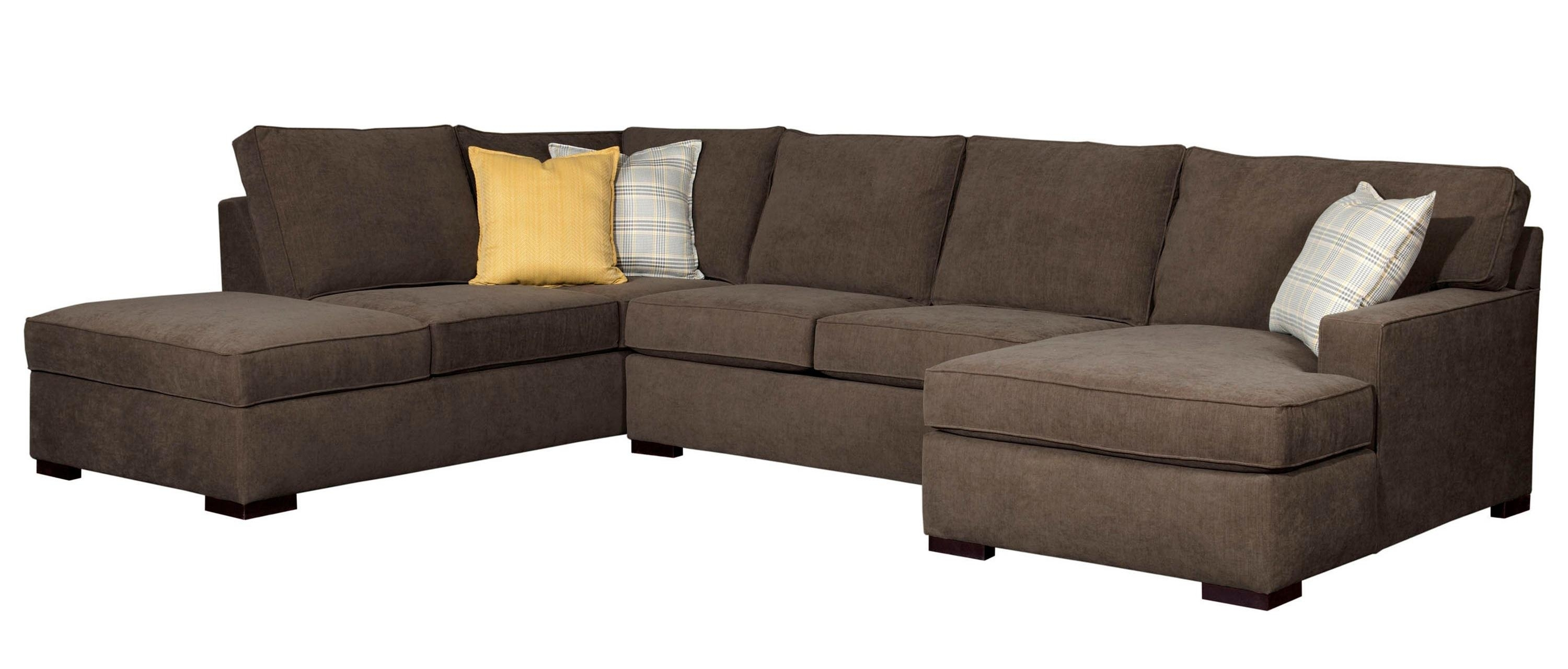 Broyhill Furniture Raphael Contemporary Sectional Sofa With Raf with regard to Norfolk Chocolate 3 Piece Sectionals With Laf Chaise (Image 7 of 30)