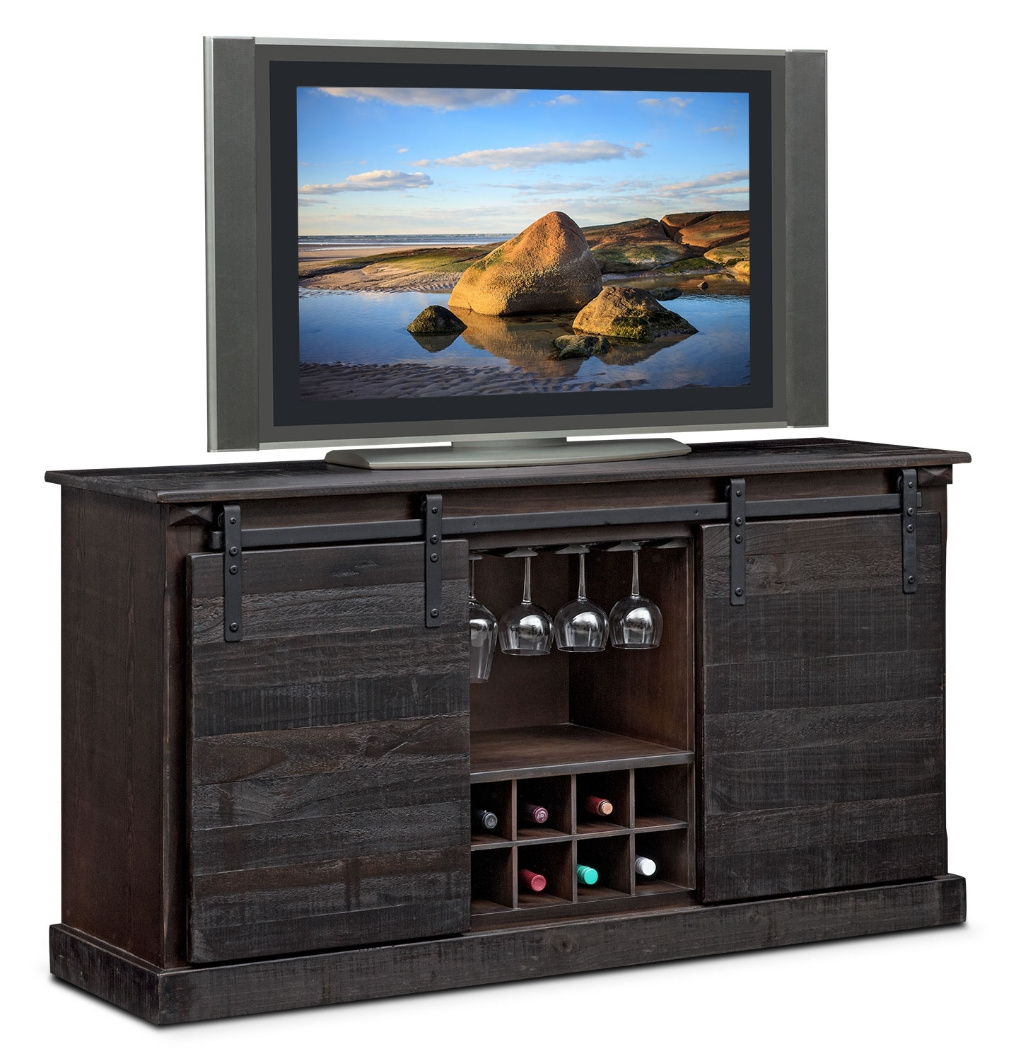 Buffet & Sideboard Cabinets | Value City for Brown Wood 72 Inch Sideboards (Image 5 of 30)