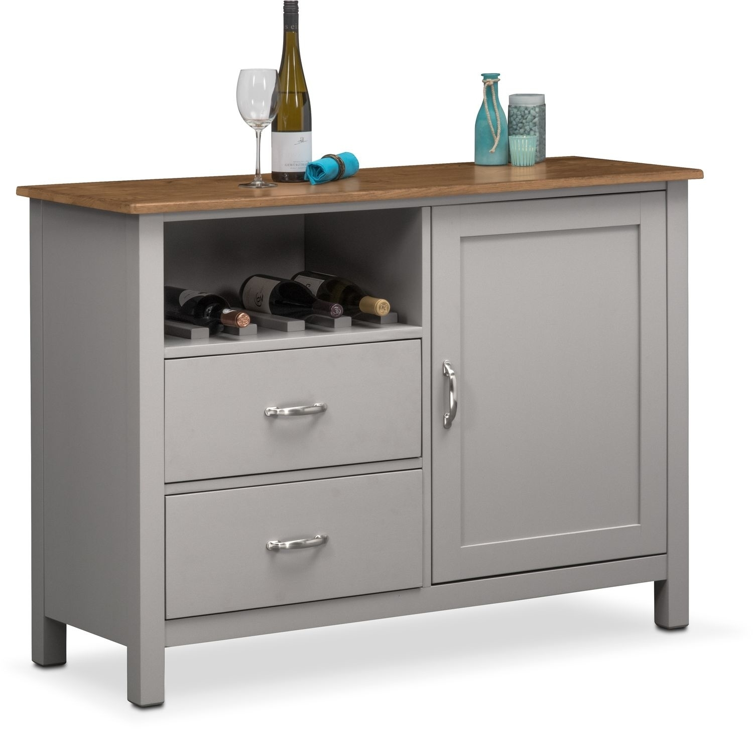Buffet & Sideboard Cabinets | Value City Furniture And Mattresses with Blue Stone Light Rustic Black Sideboards (Image 4 of 30)