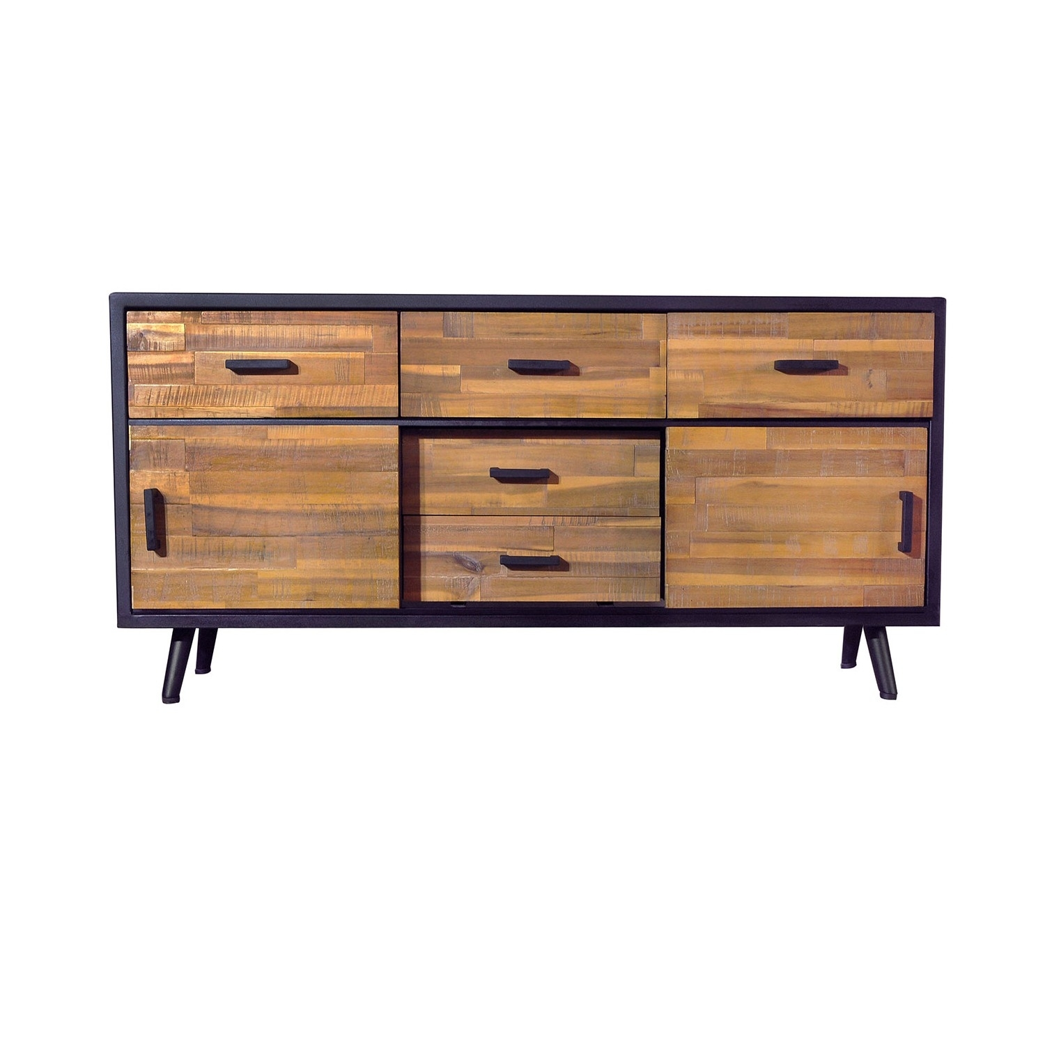 Buffets, Cabinets And Sideboards | Bois & Cuir with regard to Metal Framed Reclaimed Wood Sideboards (Image 5 of 30)
