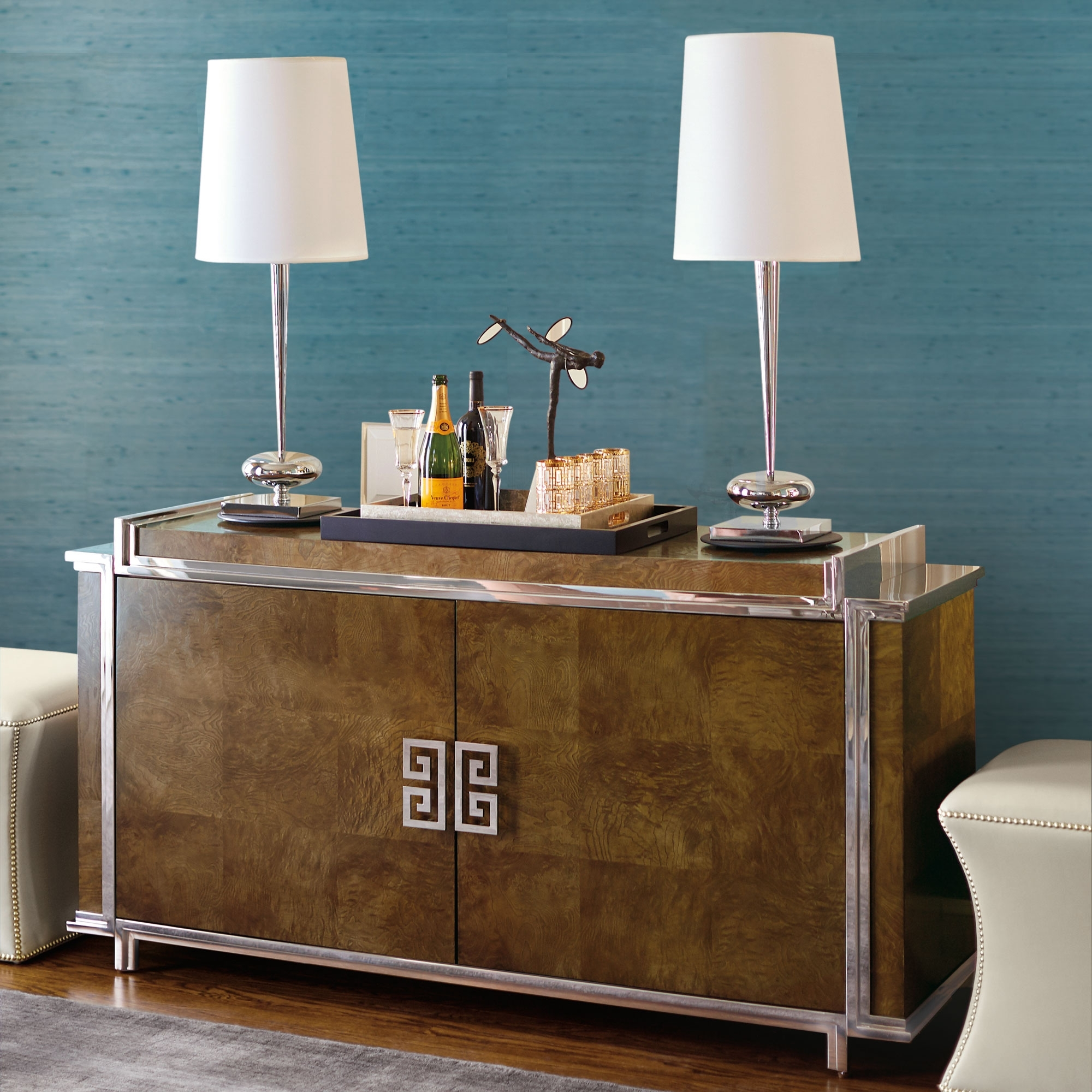 Buffets & Cabinets | Katzberry Home Decor pertaining to Mandara 3-Drawer 2-Door Sideboards (Image 3 of 30)