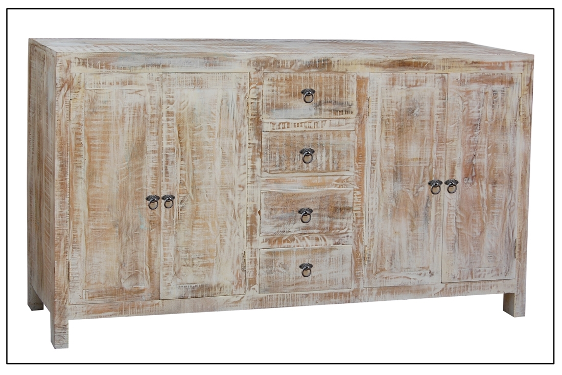 Buffets & China Cabinets | Redbarn Furniture throughout 4-Door/4-Drawer Cast Jali Sideboards (Image 1 of 30)