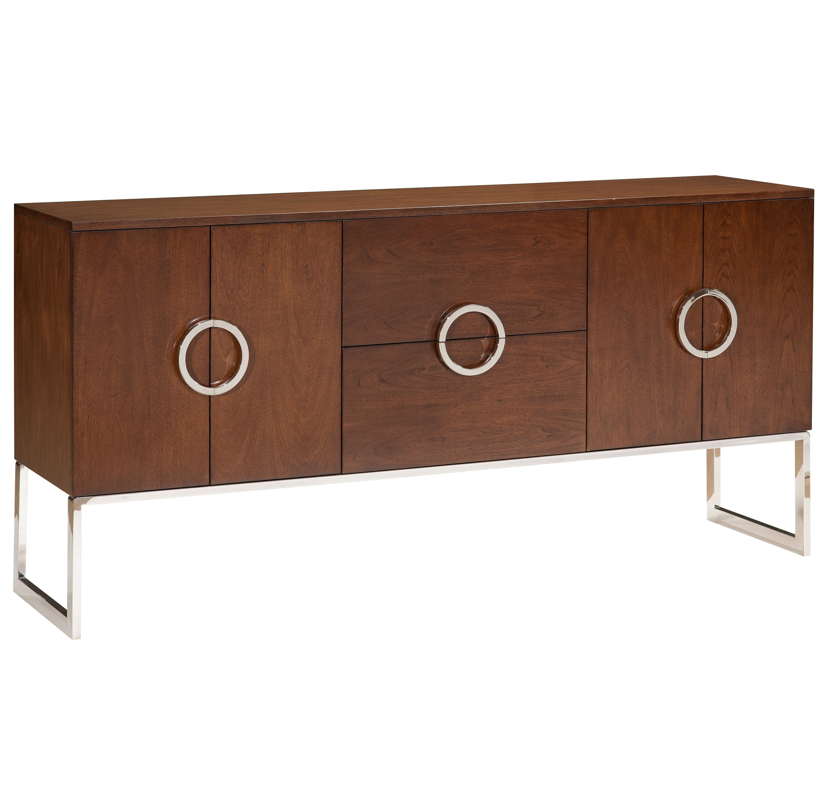 Buffets & Sideboards | Kathy Kuo Home regarding 4-Door 4-Drawer Metal Inserts Sideboards (Image 4 of 30)