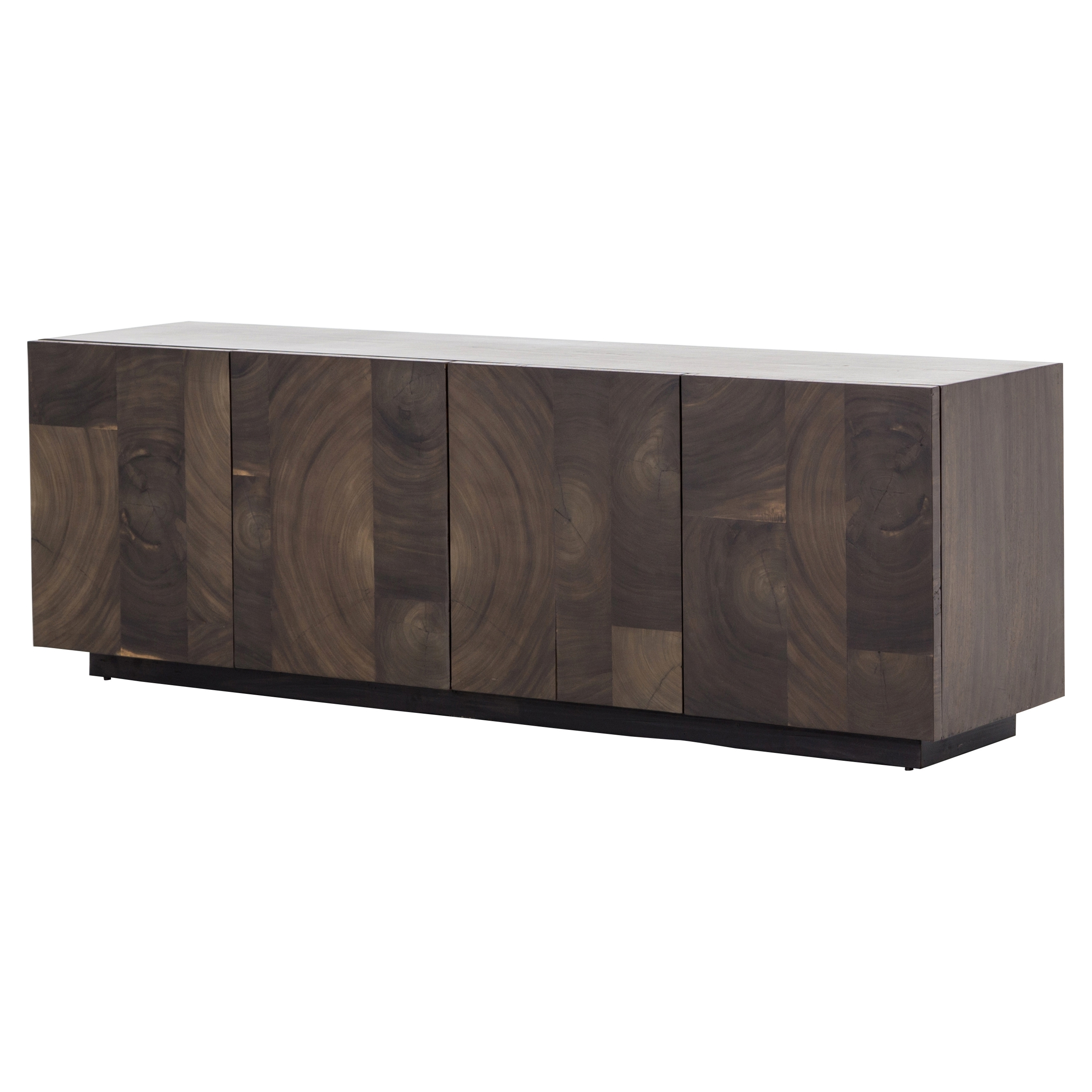 Buffets & Sideboards | Kathy Kuo Home throughout Brown Chevron 4-Door Sideboards (Image 9 of 30)