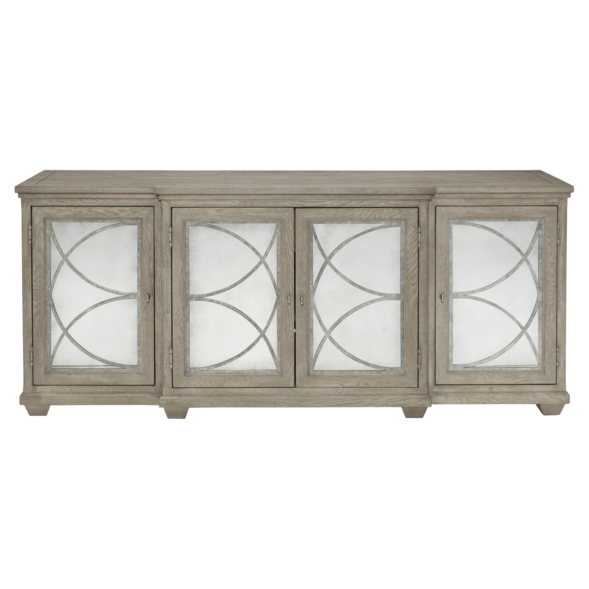 Buffets & Sideboards | Kathy Kuo Home with Square Brass 4 Door Sideboards (Image 7 of 30)