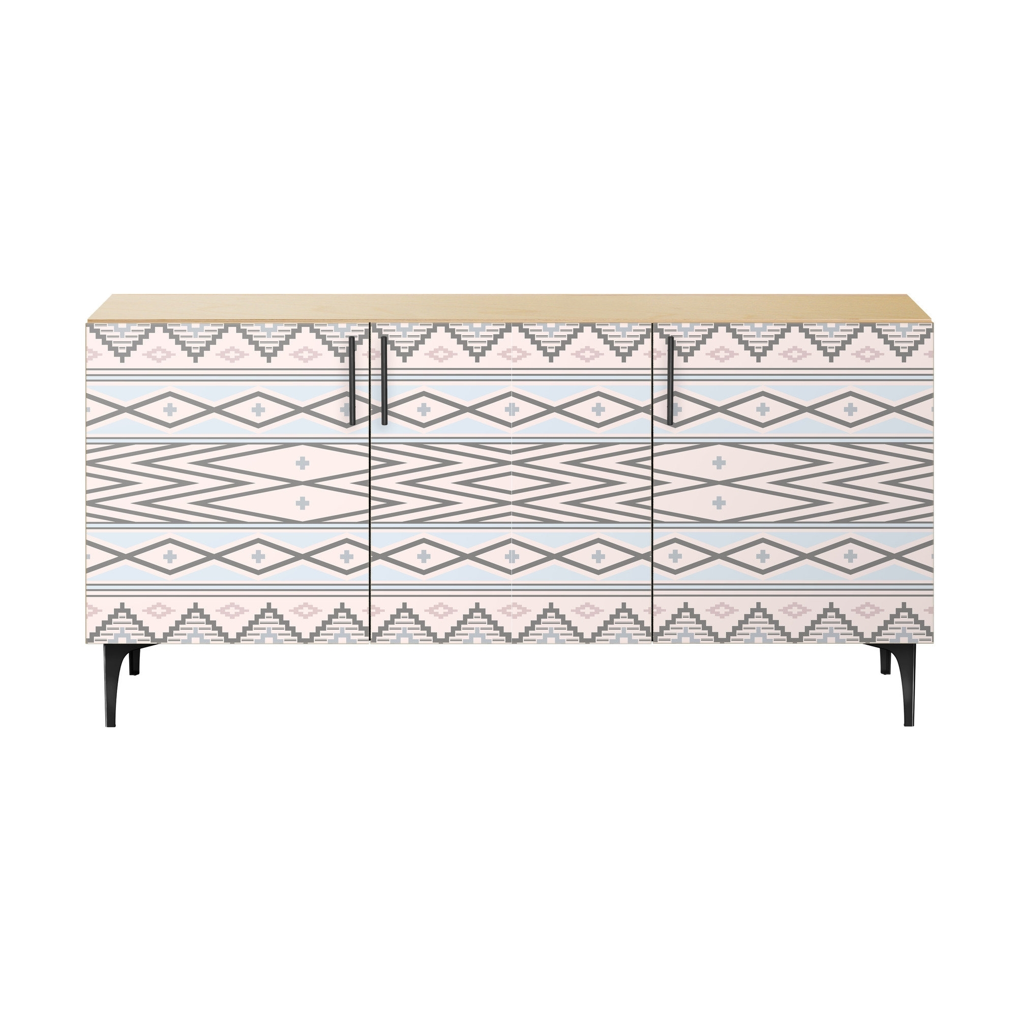 Bungalow Rose Claire Sideboard | Wayfair pertaining to Metal Refinement 4 Door Sideboards (Image 7 of 30)