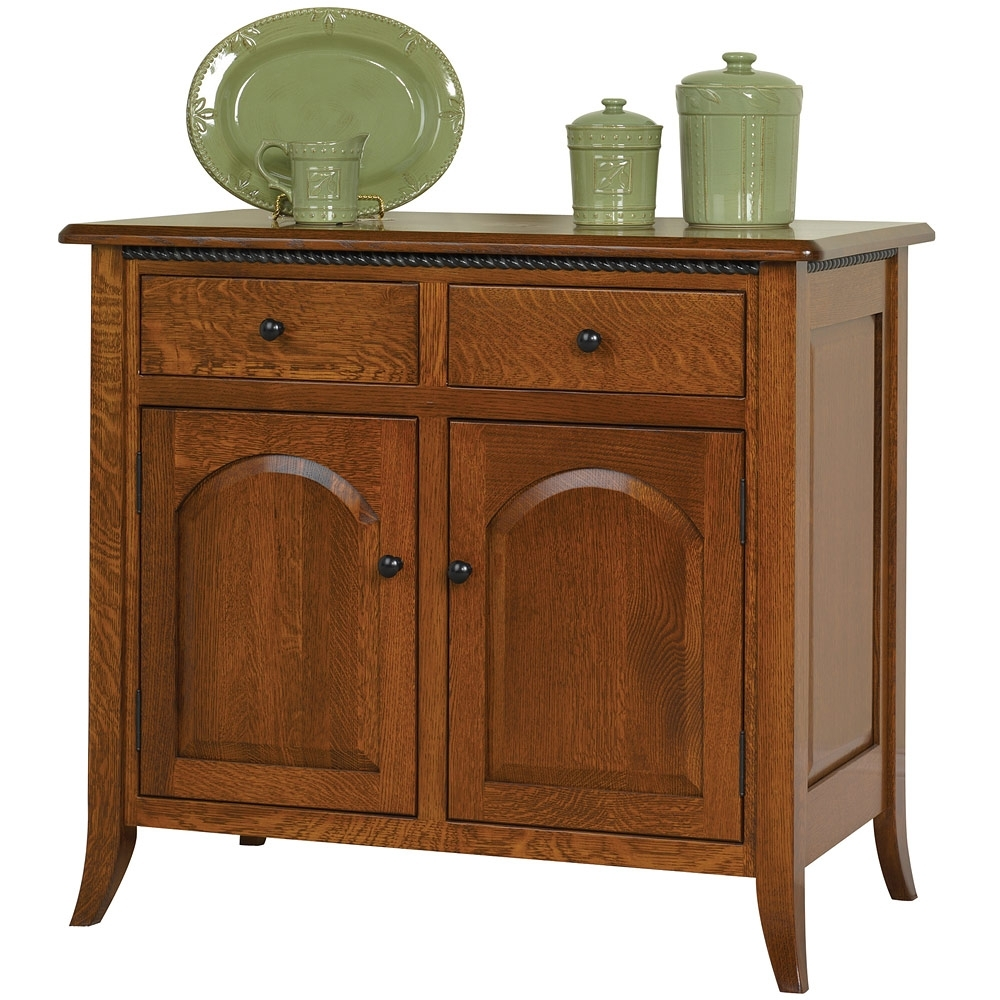 Bunker Hill Amish Buffet – Amish Sideboard Cabinet | Cabinfield Fine within Lockwood Sideboards (Image 7 of 30)