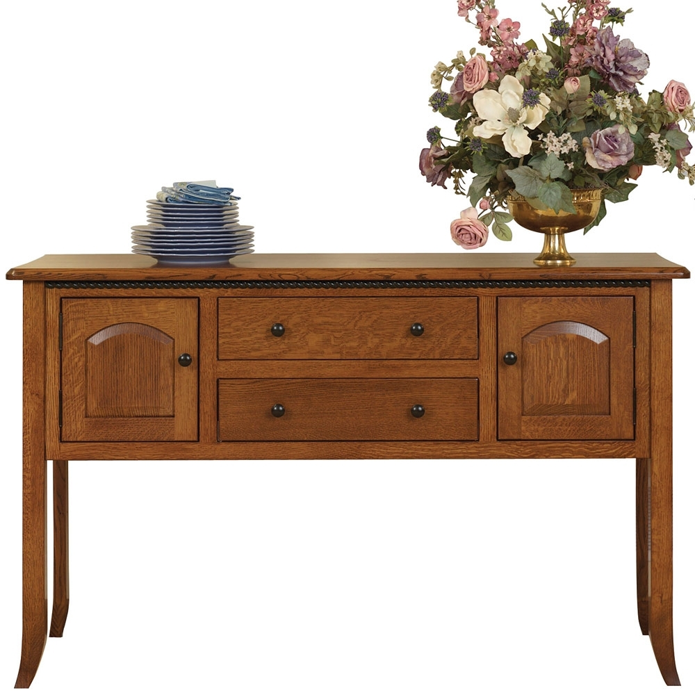 Bunker Hill Amish Sideboard – Amish Dining Room Set | Cabinfield intended for Lockwood Sideboards (Image 8 of 30)