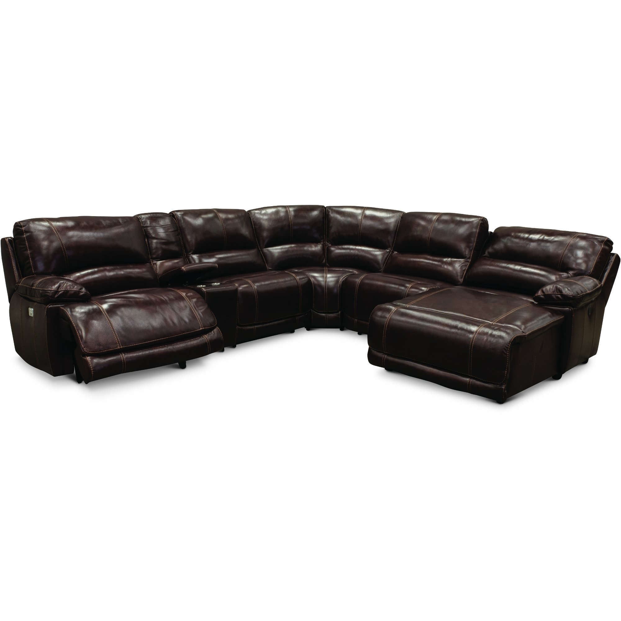 Burgundy 6 Piece Power Reclining Sectional Sofa - Brant | Rc Willey with Jackson 6 Piece Power Reclining Sectionals With  Sleeper (Image 5 of 30)