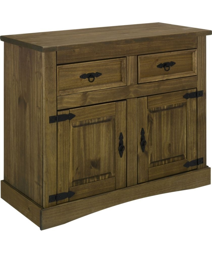 Buy Aruba 2 Door And 2 Drawer Solid Pine Sideboard - Dark At Argos pertaining to 2-Drawer Sideboards (Image 5 of 30)