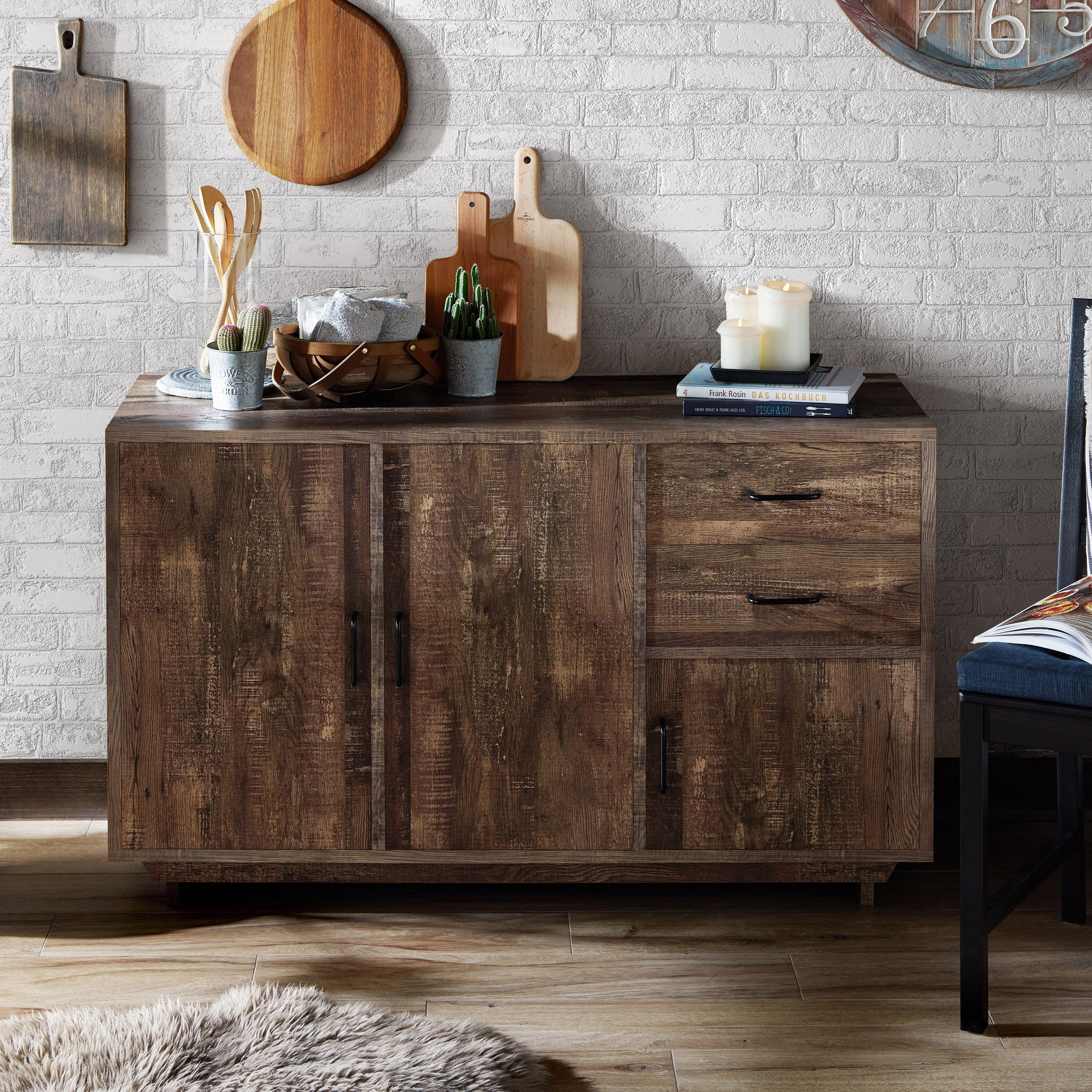 Buy Buffets, Sideboards & China Cabinets Online At Overstock throughout Blue Stone Light Rustic Black Sideboards (Image 11 of 30)