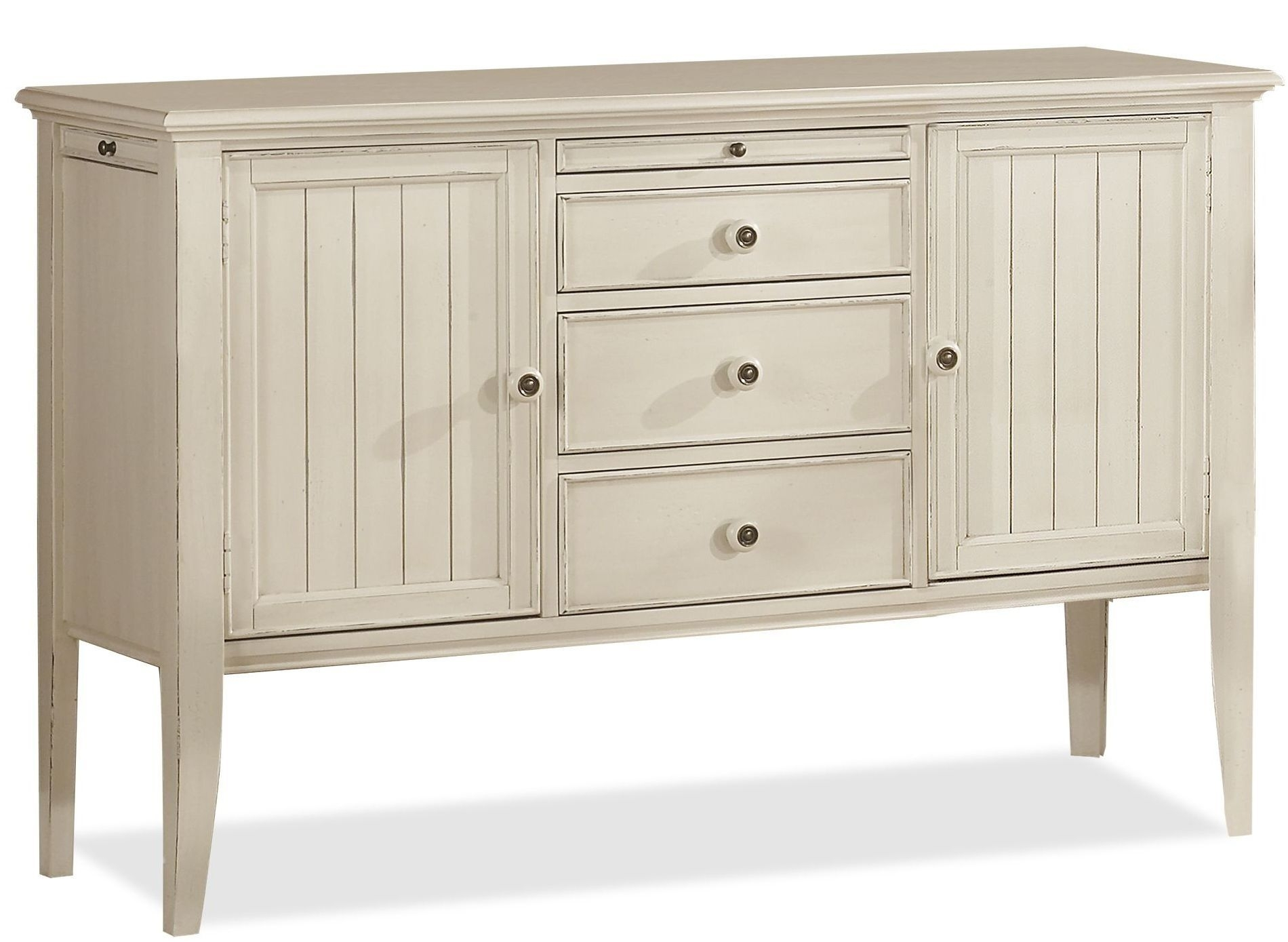 Buy Low Price Riverside Furniture Cape May Buffet Server In Seaspray pertaining to Parrish Sideboards (Image 9 of 30)