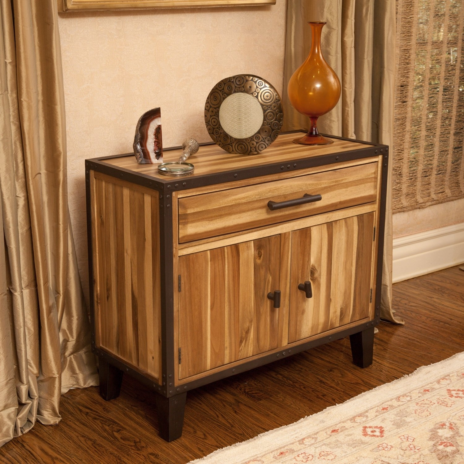 Buy Natural Finish, Entryway Table Online At Overstock | Our in Mandara 3-Drawer 2-Door Sideboards (Image 5 of 30)