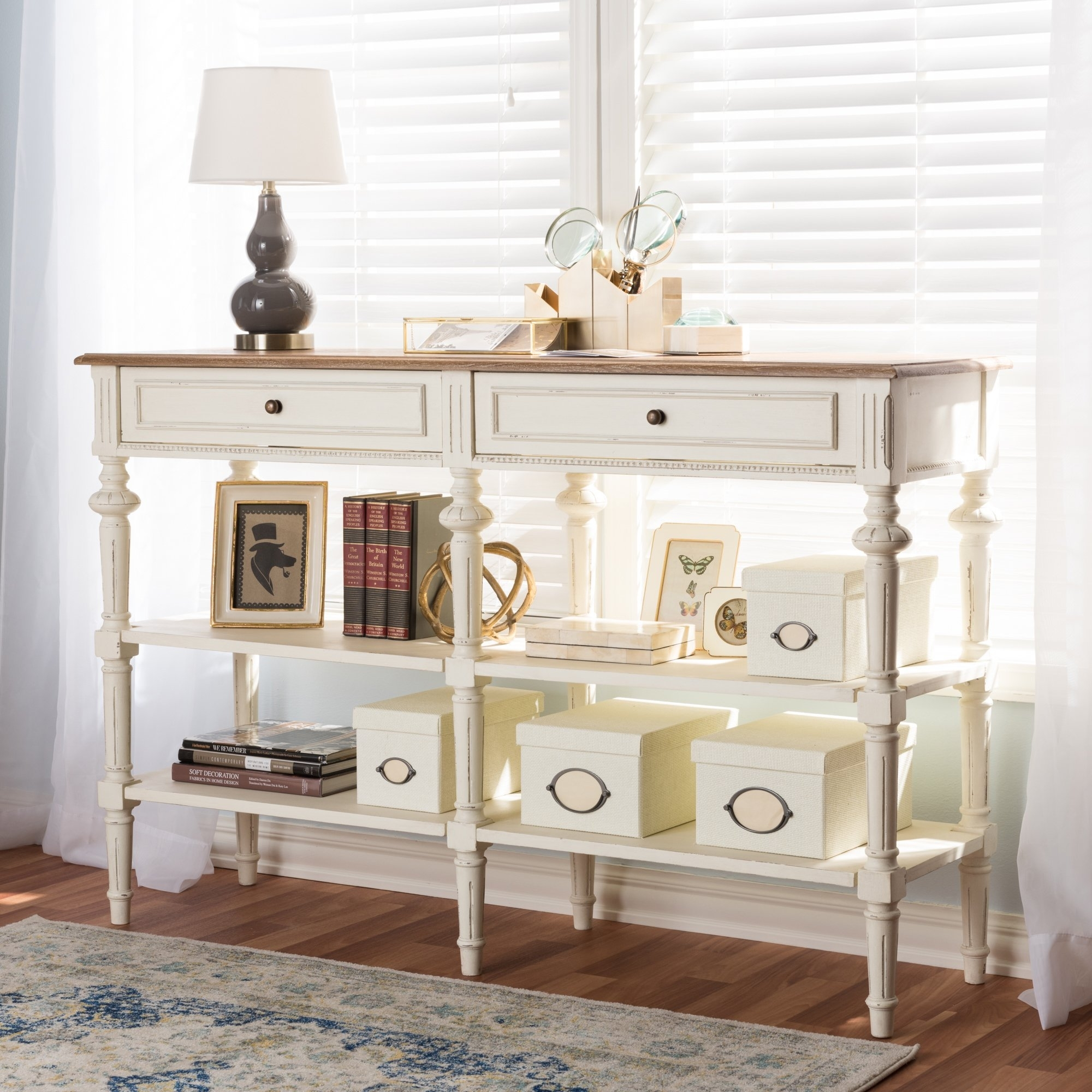Buy Natural Finish, Entryway Table Online At Overstock | Our in Mandara 3-Drawer 2-Door Sideboards (Image 4 of 30)