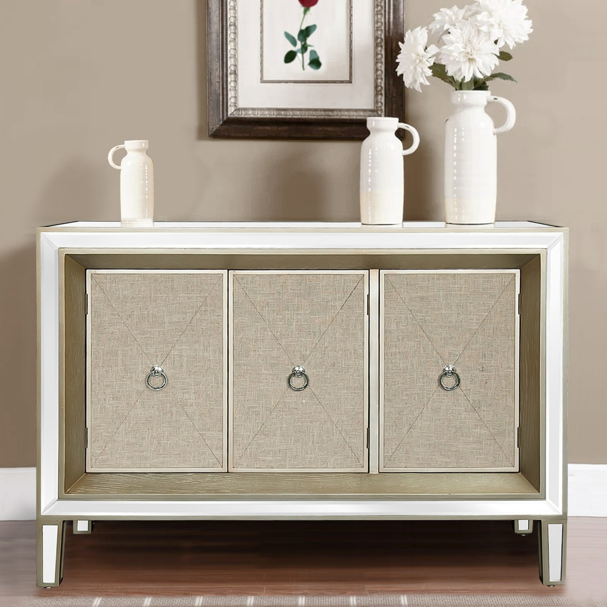 Buy Natural Finish, Entryway Table Online At Overstock | Our pertaining to Mandara 3-Drawer 2-Door Sideboards (Image 6 of 30)