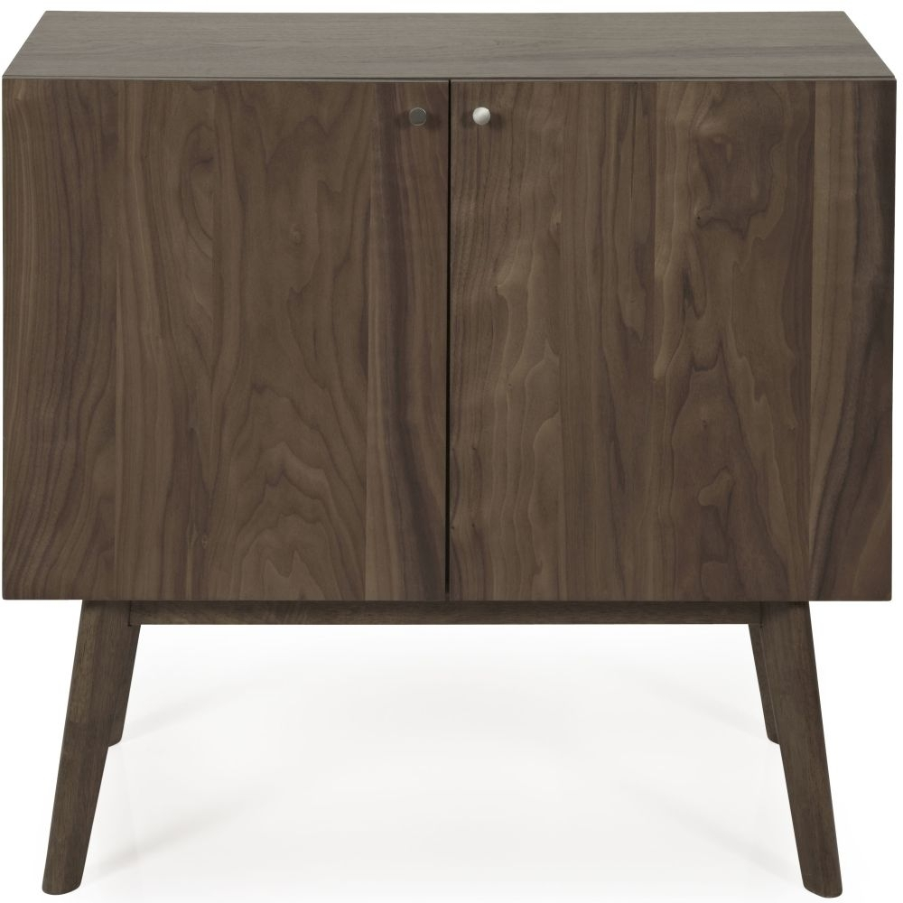 Buy Serene Finchley Walnut 2 Door Narrow Sideboard Online - Cfs Uk with Walnut Small Sideboards (Image 6 of 30)