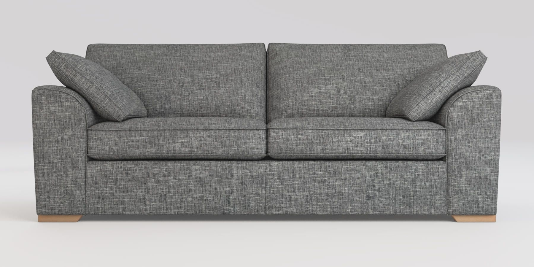 Buy Stamford With Storage Large Sofa (3 Seats) Boucle Weave Dark in Declan 3 Piece Power Reclining Sectionals With Right Facing Console Loveseat (Image 8 of 30)