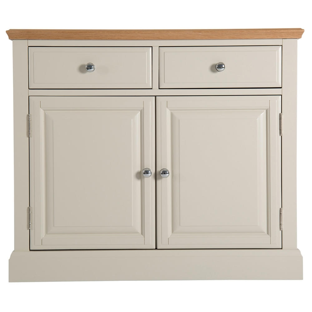 Buy The Highgrove Grey 2 Door 2 Drawer Sideboard At Furniture Octopus pertaining to Natural Oak Wood 2-Door Sideboards (Image 3 of 30)