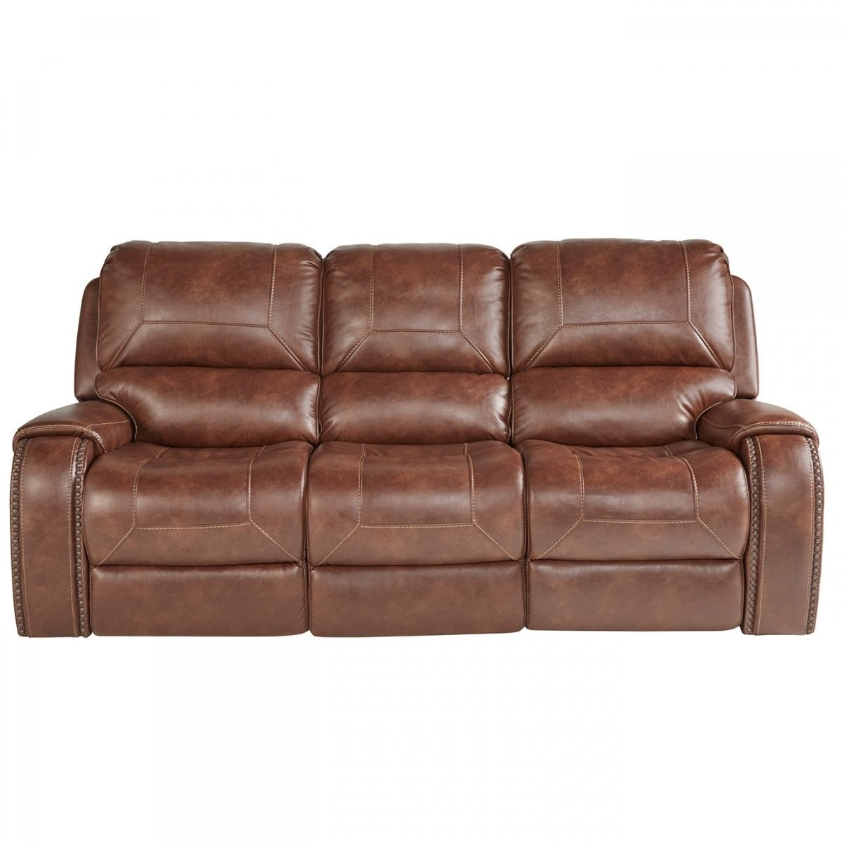Buy Wescott Brown Reclining Sofa Online | Badcock & More with regard to Waylon 3 Piece Power Reclining Sectionals (Image 4 of 30)