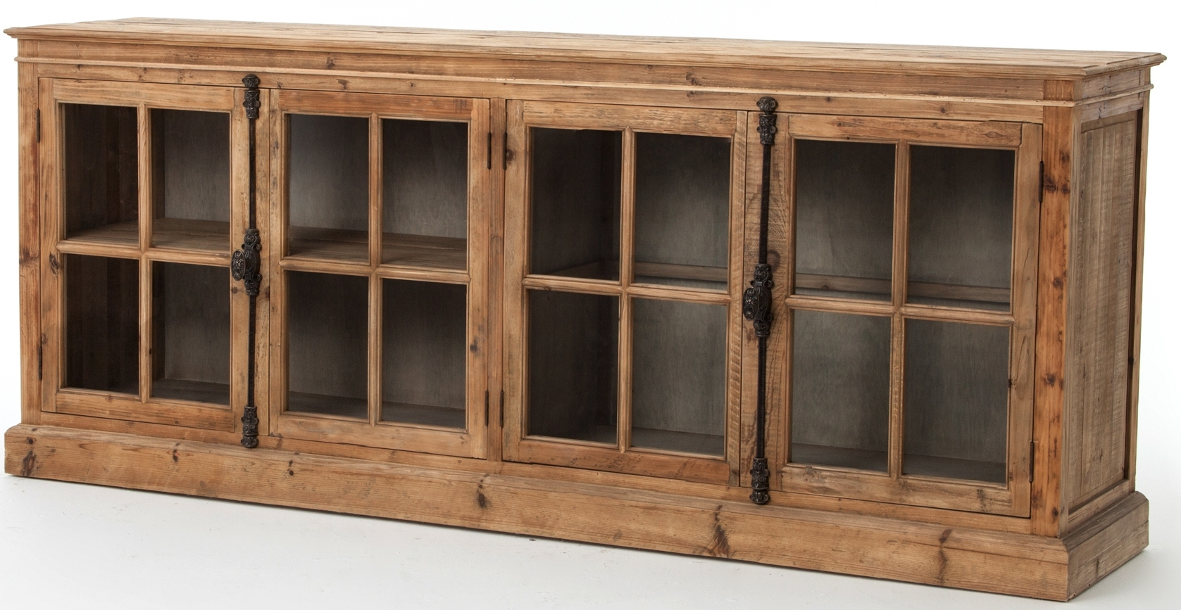 Cabinets, Consoles & Sofa Tables | Htgt Furniture in Light Brown Reclaimed Elm & Pine 84 Inch Sideboards (Image 8 of 30)