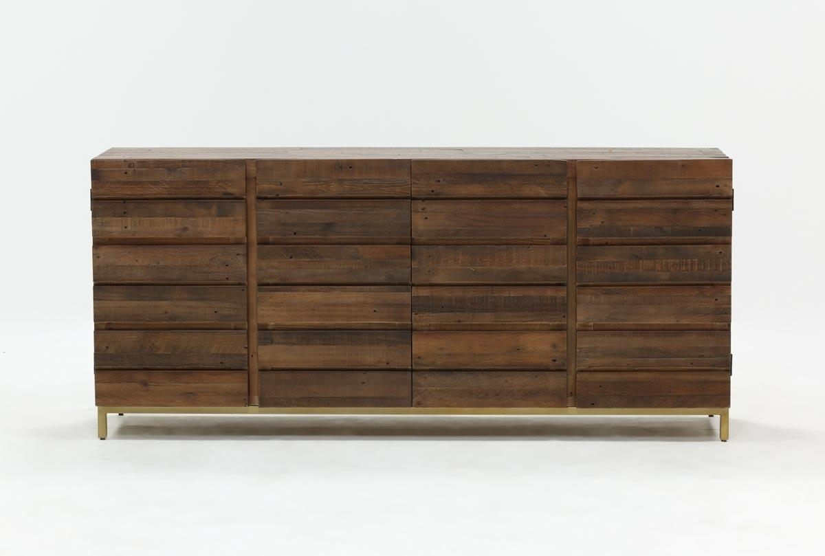Calhoun Sideboard | Living Spaces in Gunmetal Perforated Brass Sideboards (Image 14 of 30)