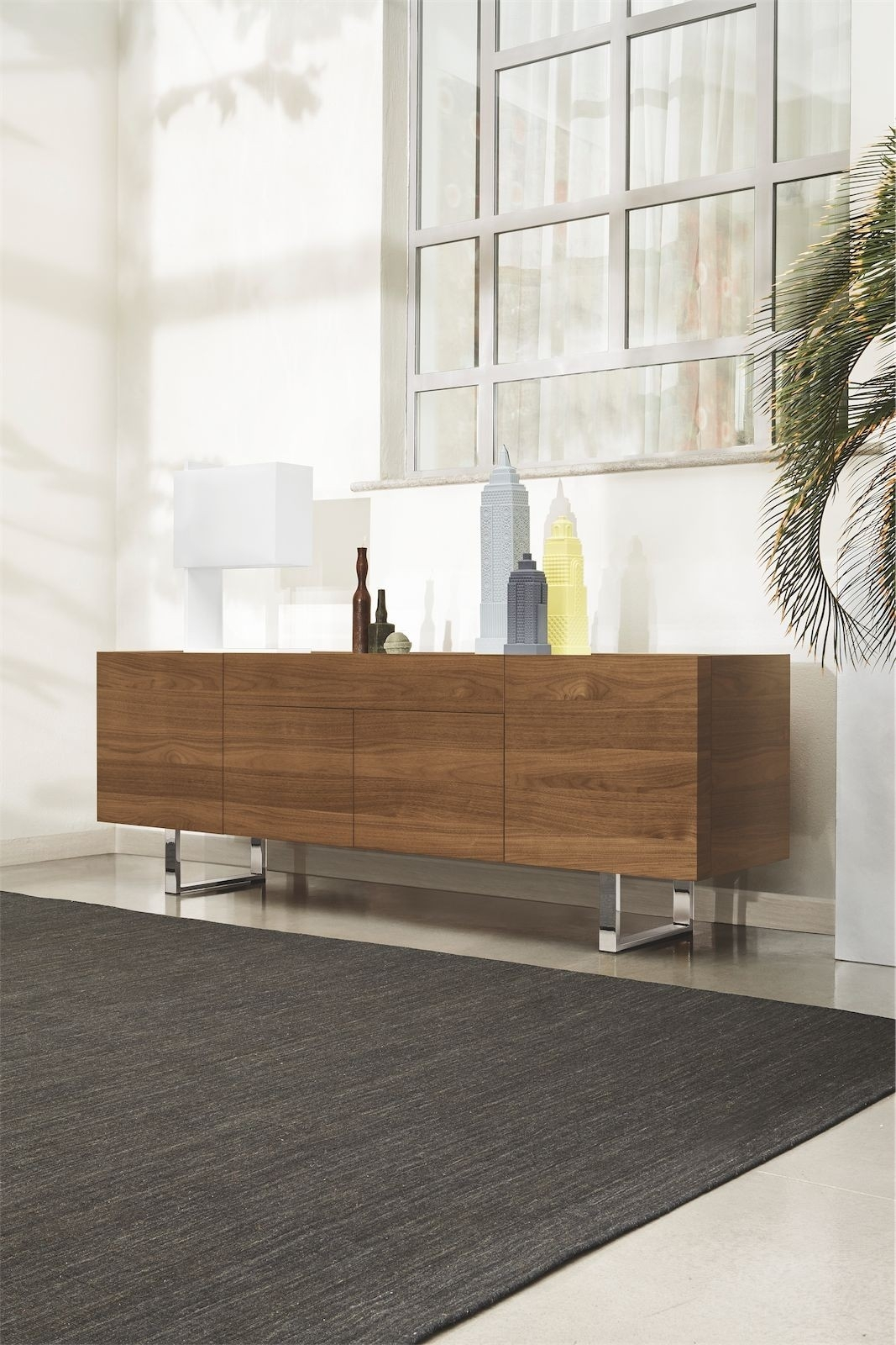 Calligaris Horizon 4 Door With Central Drawer Sideboard – Frank Mc Gowan intended for Metal Refinement 4 Door Sideboards (Image 9 of 30)