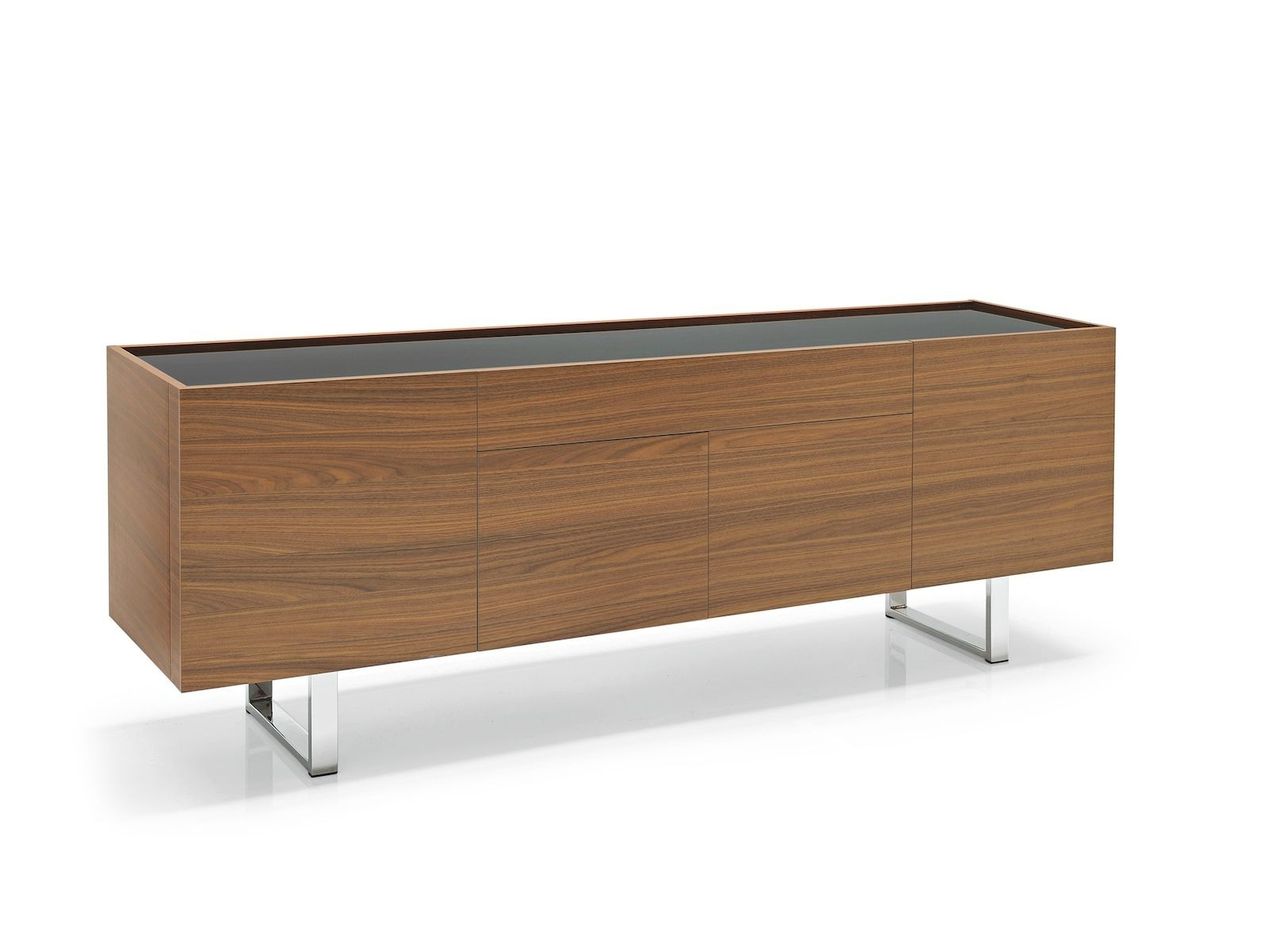 Calligaris Horizon 4 Door With Central Drawer Sideboard – Frank Mc Gowan pertaining to 4-Door/4-Drawer Metal Inserts Sideboards (Image 10 of 30)