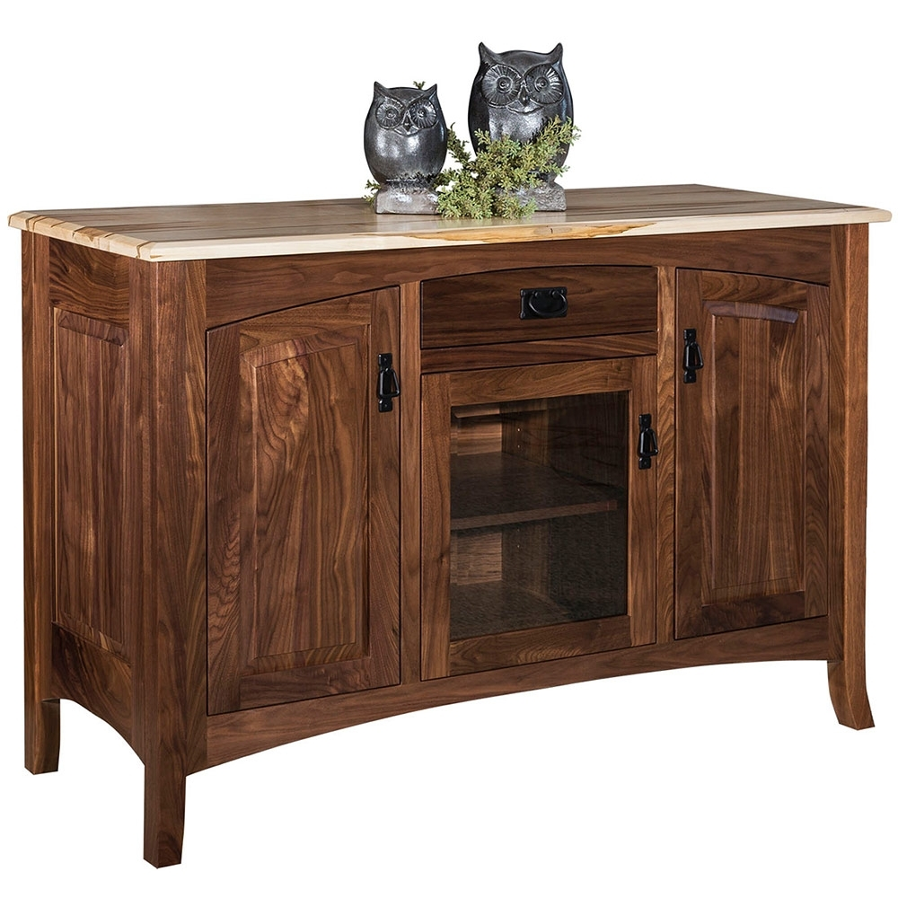 Cambria Wine Rack Amish Sideboard – Amish Buffet | Cabinfield Fine with regard to Lockwood Sideboards (Image 9 of 30)