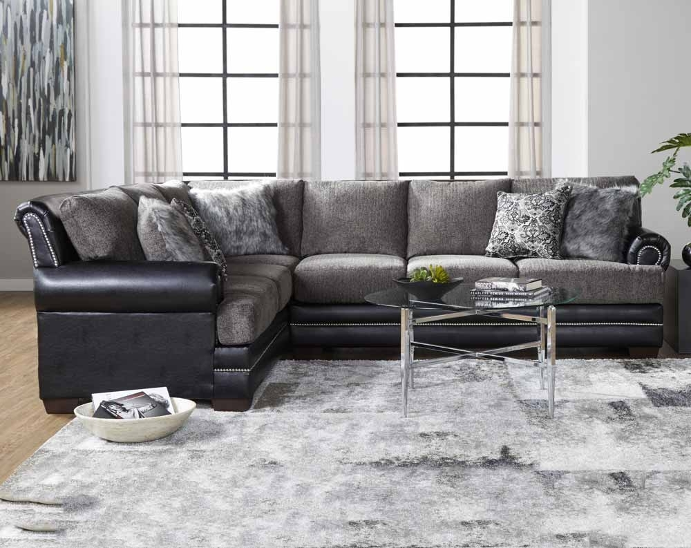 Camero Pewter 2 Pc. Sectional Sofa | American Freight throughout Norfolk Grey 3 Piece Sectionals With Raf Chaise (Image 4 of 30)