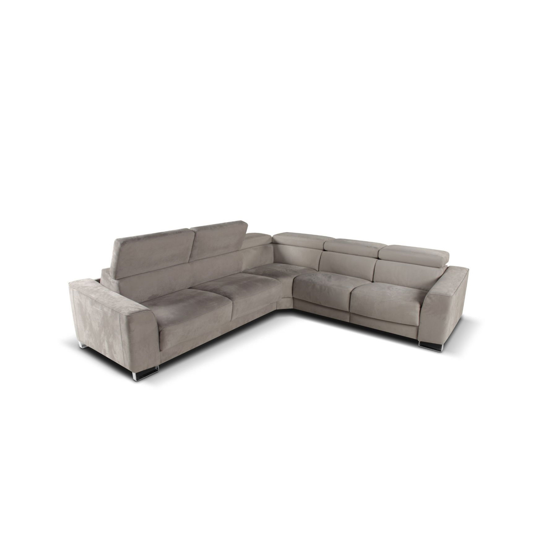 Camilion Leather (Or Fabric) Sofa / Sectional / Sleepergiuseppe in Lucy Grey 2 Piece Sectionals With Raf Chaise (Image 6 of 30)
