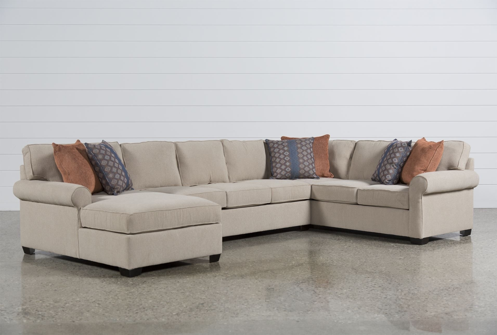 Camilla 3 Piece Sectional W/laf Chaise | Couches | Pinterest with Glamour Ii 3 Piece Sectionals (Image 5 of 30)
