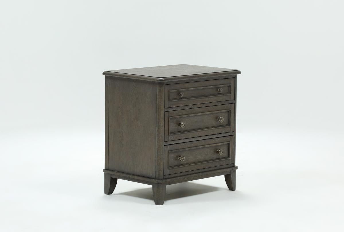 Candice Ii 3-Drawer Nightstand | Living Spaces within Candice Ii Sideboards (Image 9 of 30)