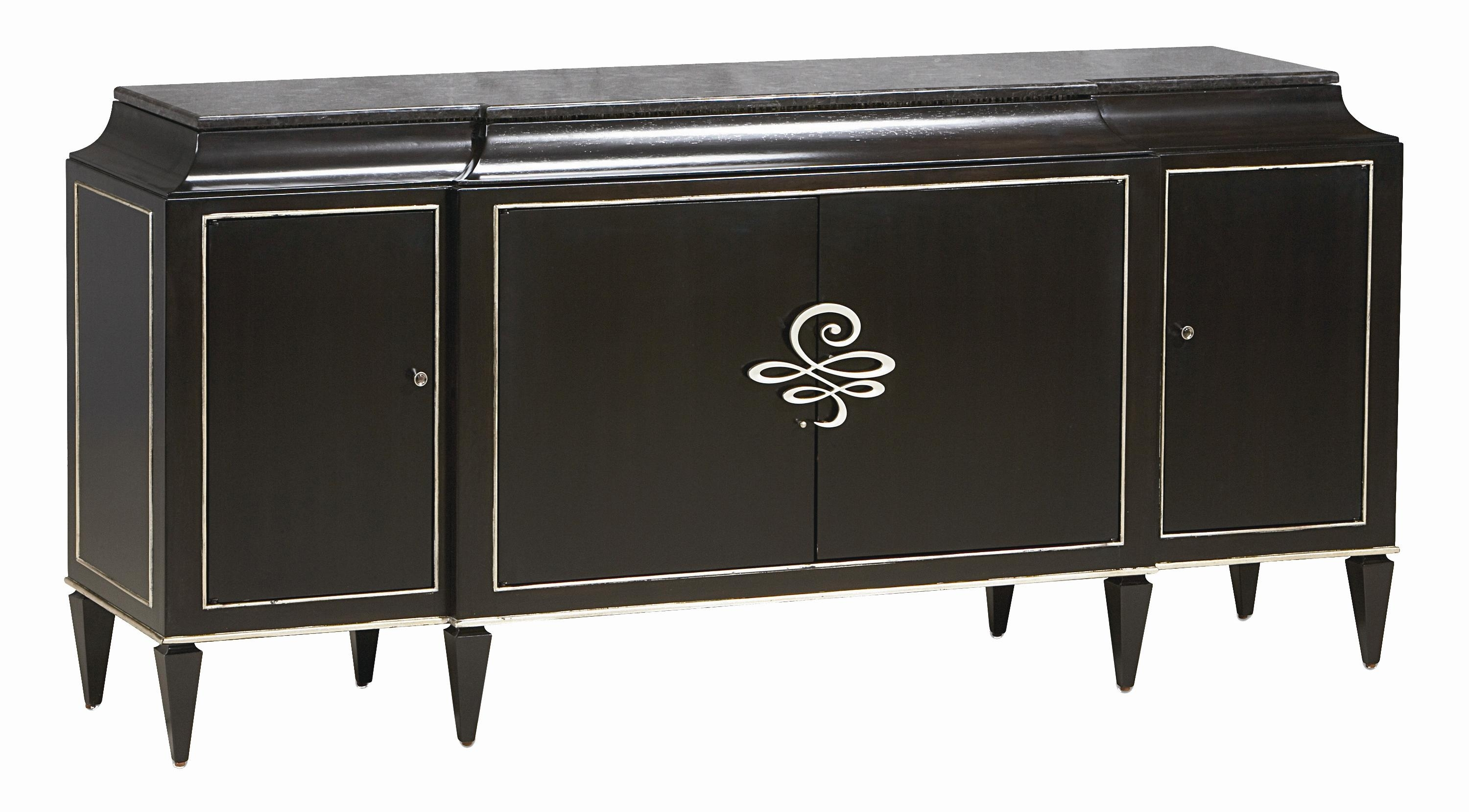 "Caracole Caracole Classic ""rive Gauche"" 4-Door Shaped Sideboard With for Natural Oak Wood 78 Inch Sideboards (Image 6 of 30)"