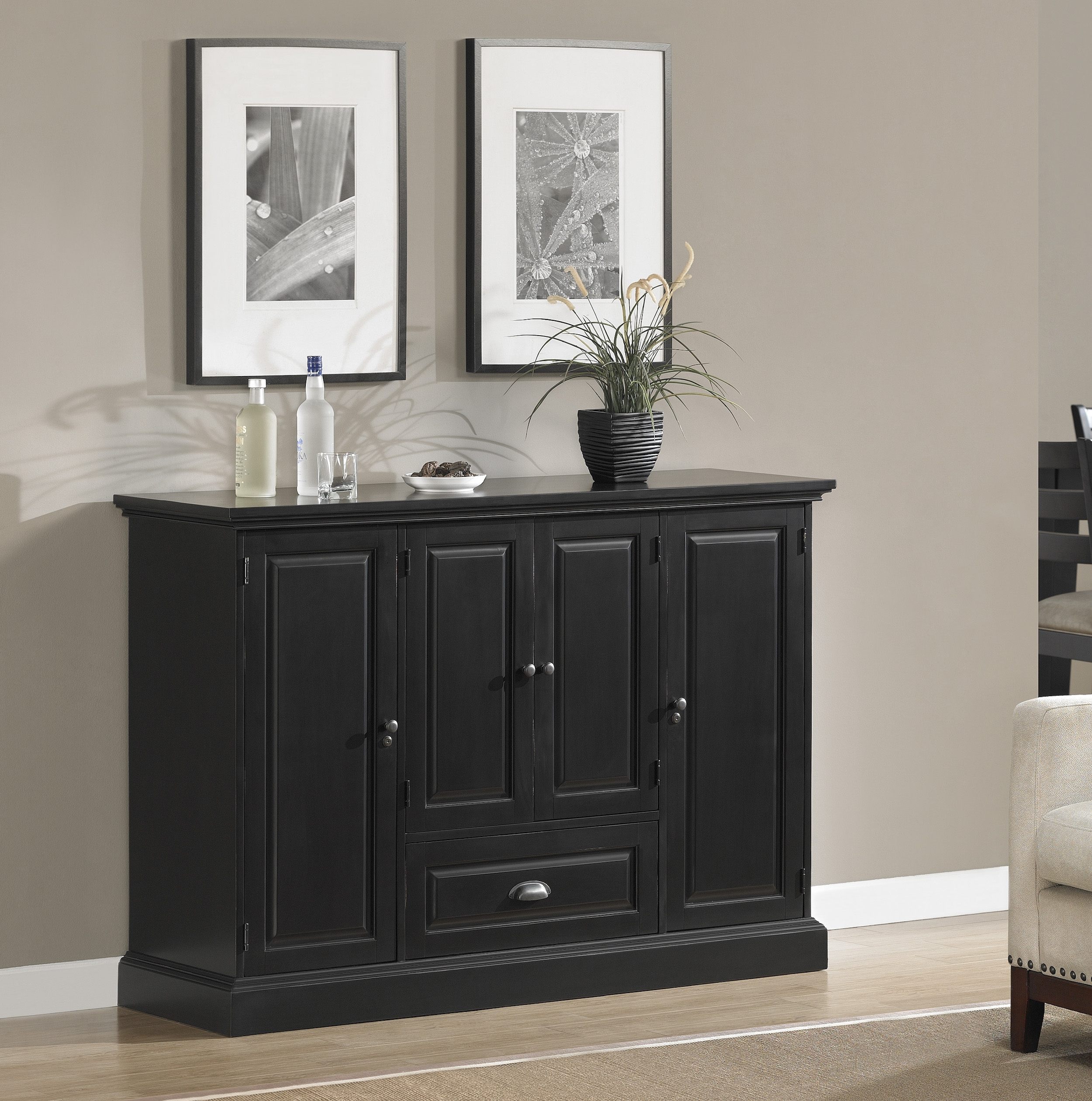 Carlotta-Antique Black | American Heritage Billiards with Jaxon Grey Sideboards (Image 5 of 30)