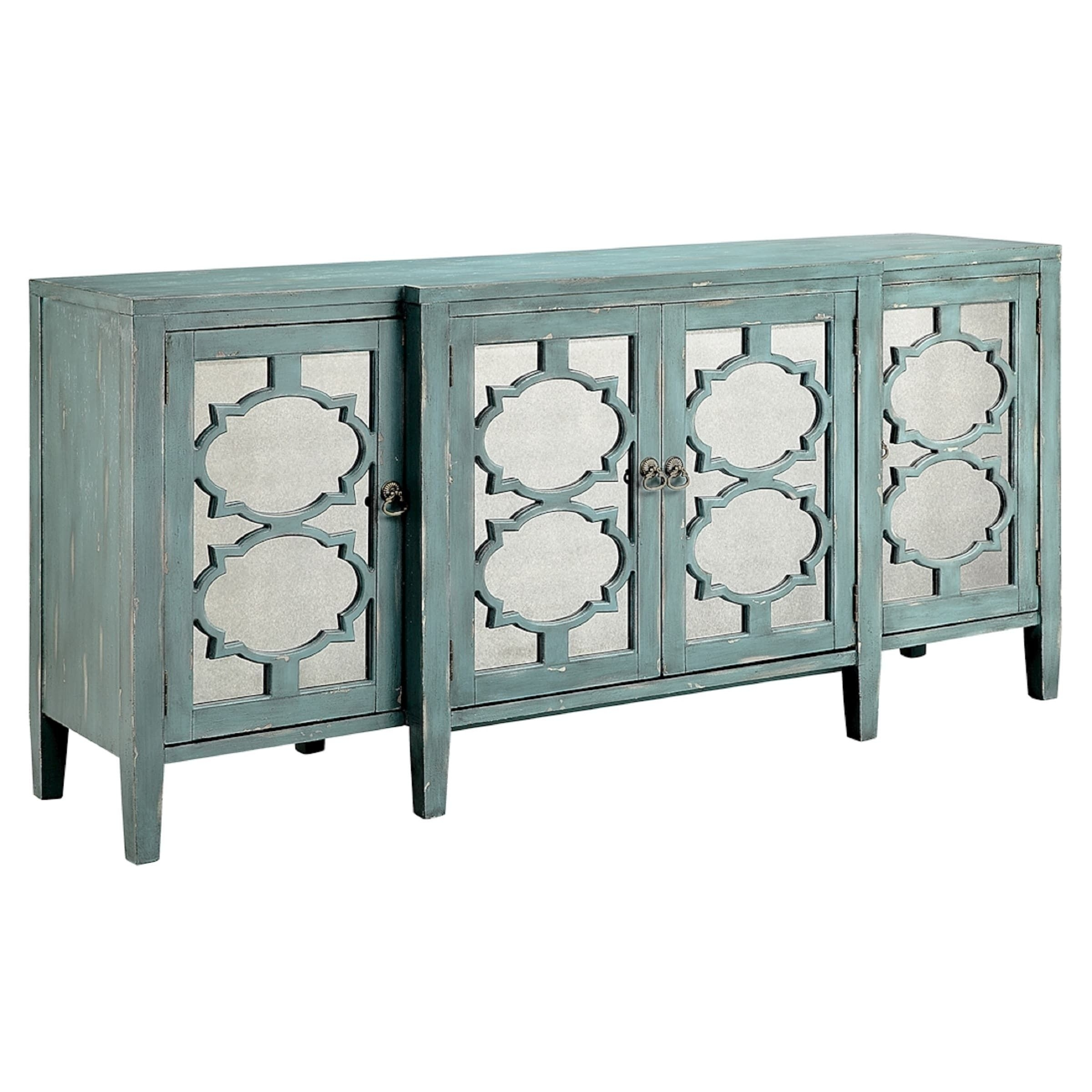 Carrie Ocean Blue Breakfront Credenza/ Buffet Table | Overstock with regard to Palazzo 87 Inch Sideboards (Image 9 of 30)