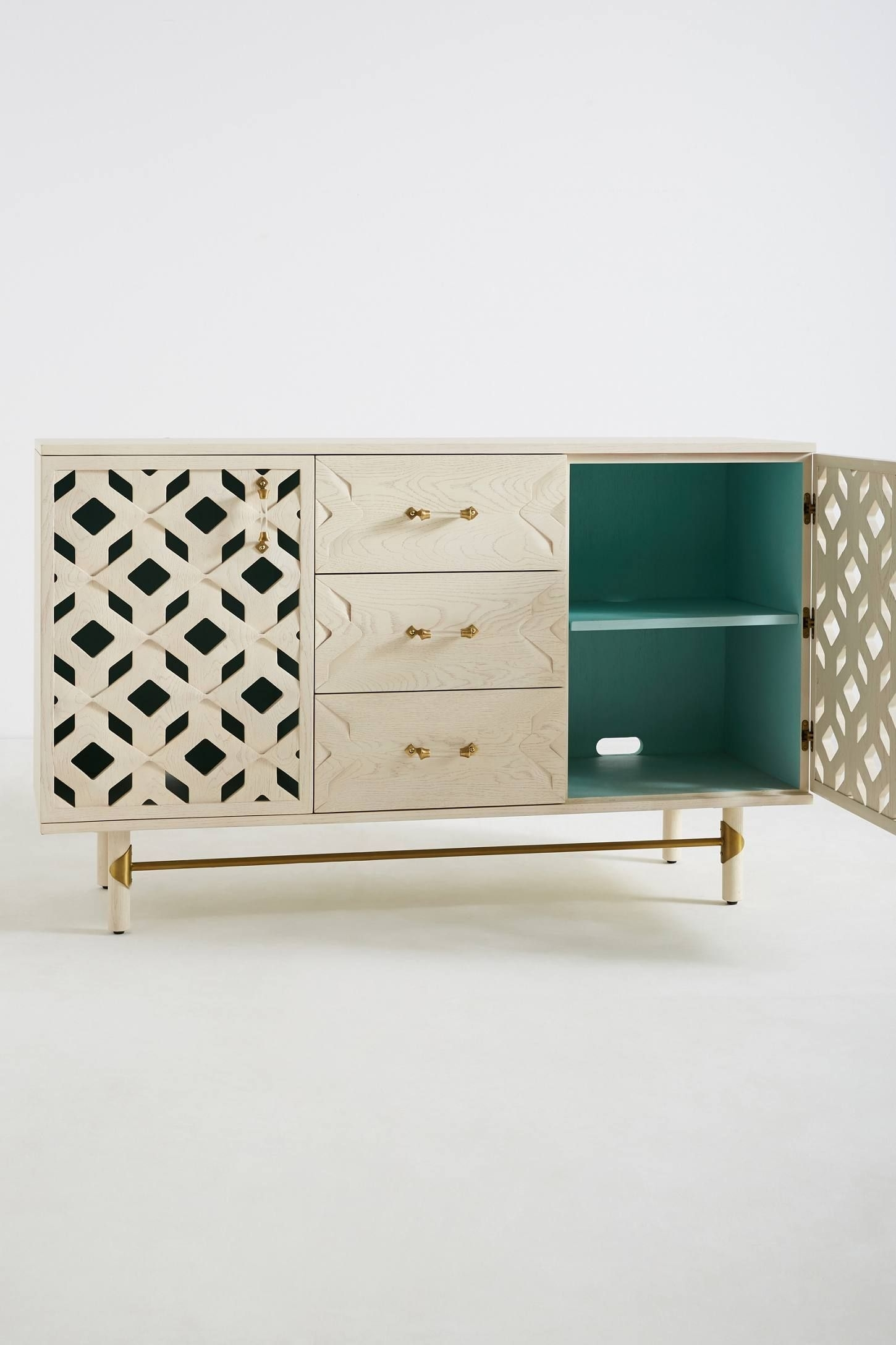 Carroway Storage Console | Tv Console | Pinterest | Consoles regarding Geo Capiz Sideboards (Image 14 of 30)